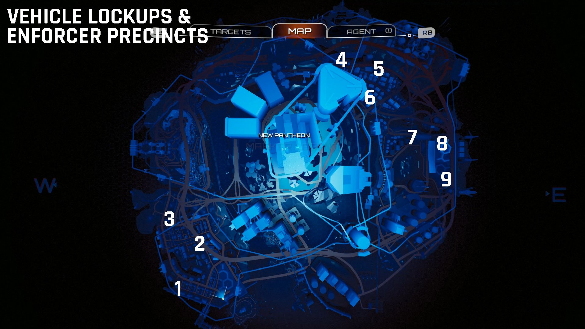 Crackdown 3 Vehicle Lockups and Enforcer Precincts
