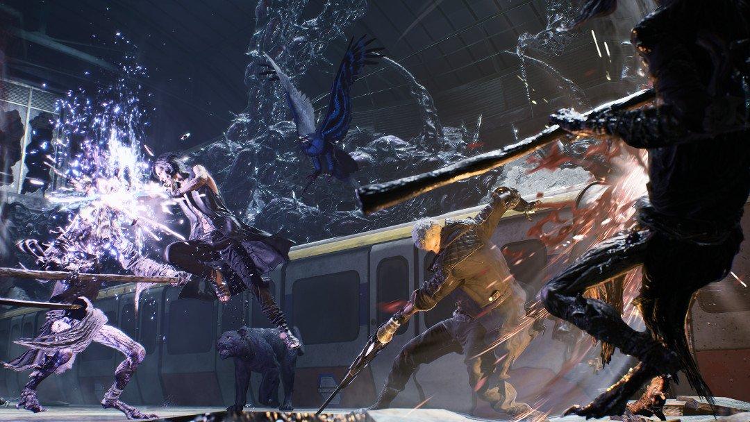 devil may cry five combat screenshot
