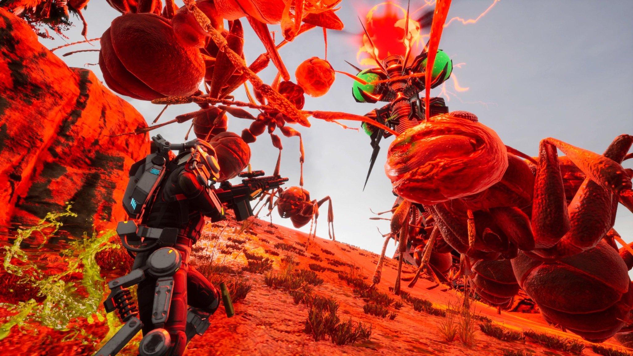 earth defense force iron rain screenshot giant ants attack