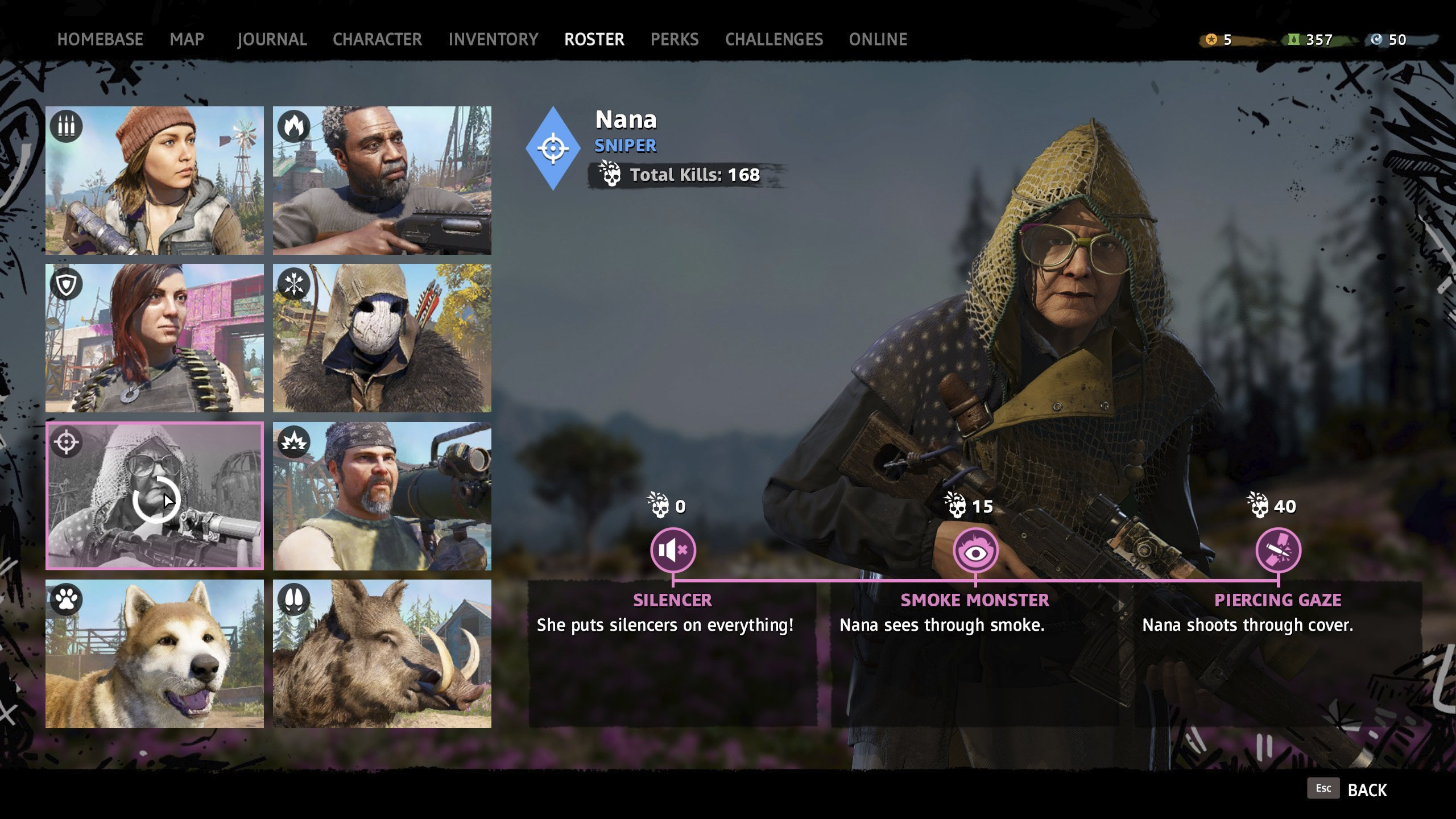 Sniper companion Nana in Far Cry New Dawn