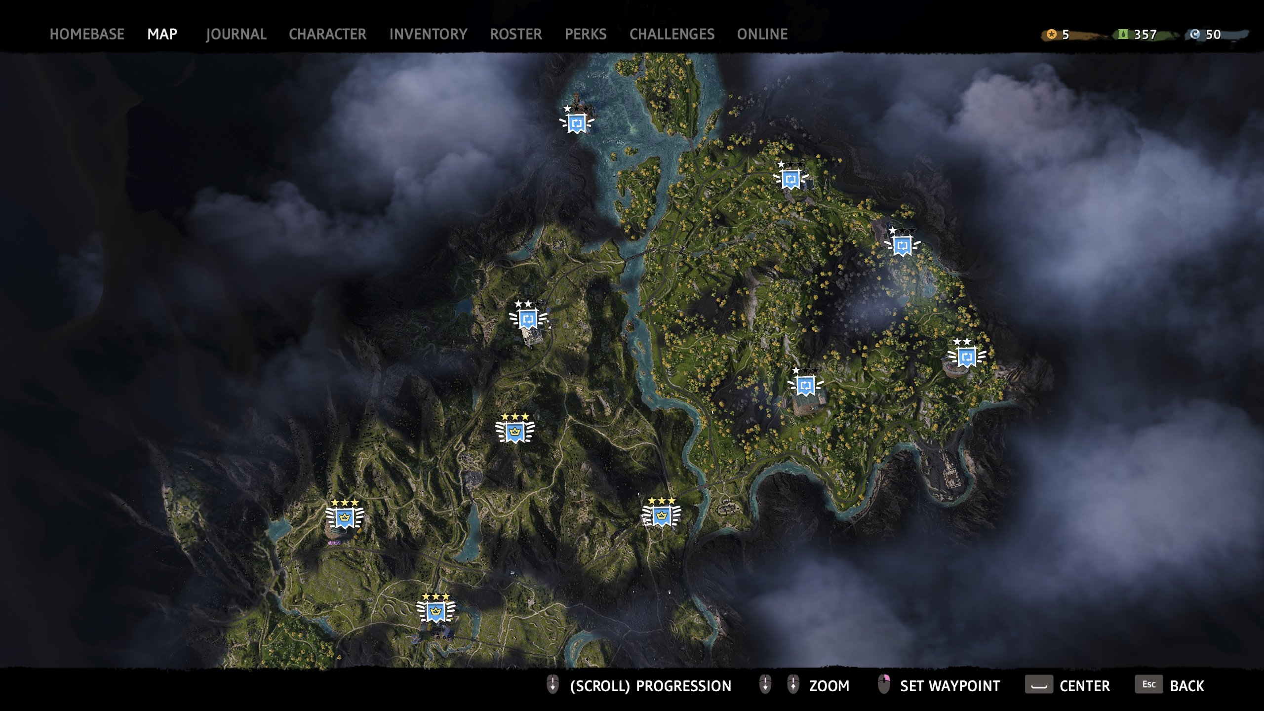 Map of Far Cry New Dawn outpost locations
