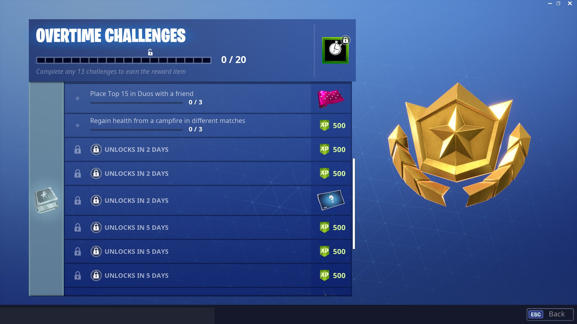 as of this writing only a handful of challenges have actually been revealed with several still locked away however as usual some craft players have - lock fortnite skin