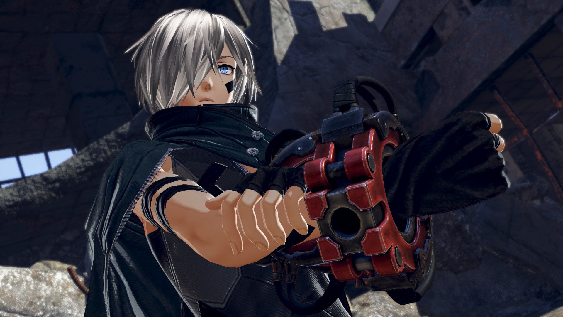 God Eater 3 player character close-up