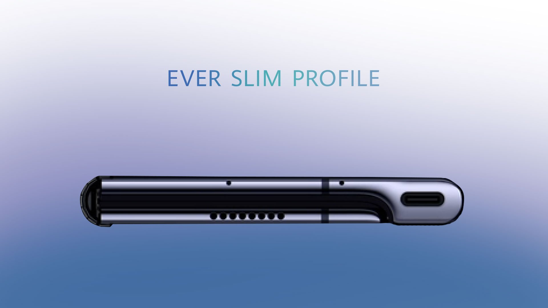 The Huawei Mate X measures 11 millimeters when folded and 5.4 millimeters in tablet mode.