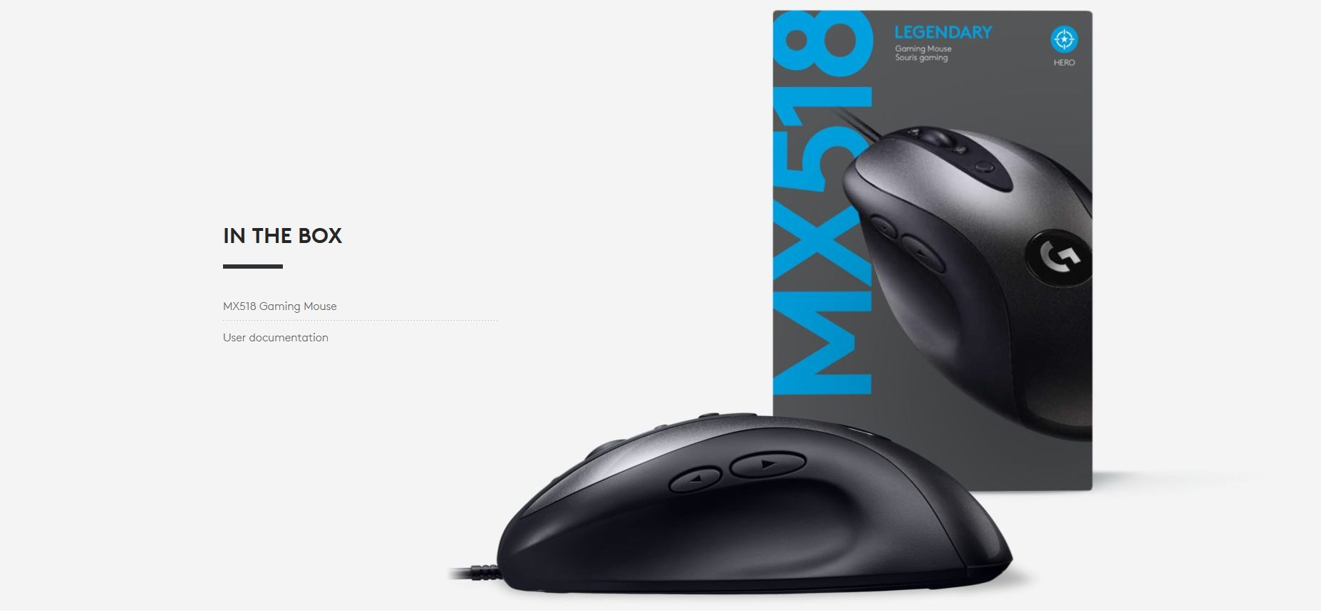 Logitech G MX518 gaming mouse wired