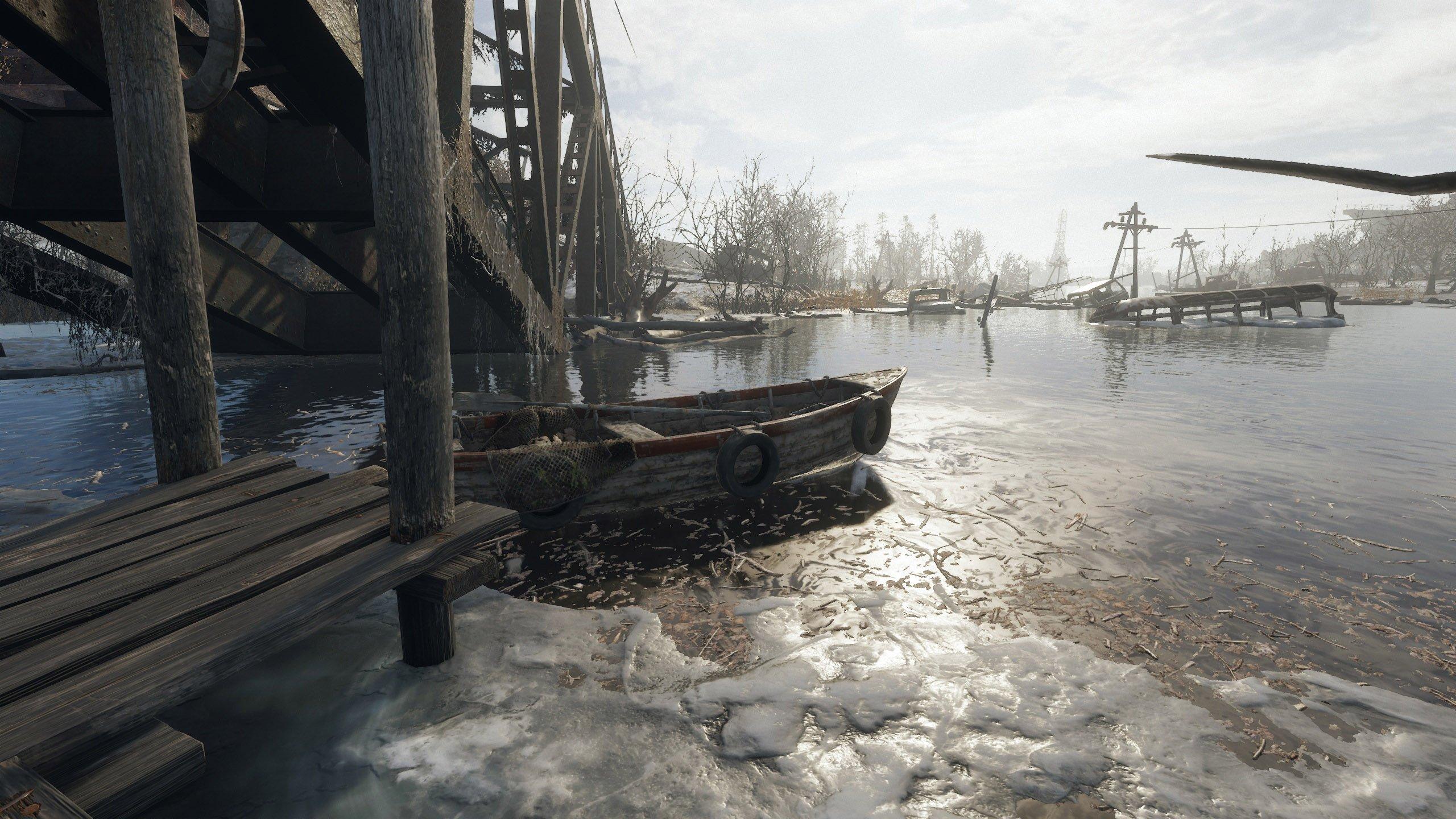 Metro Exodus rowboat