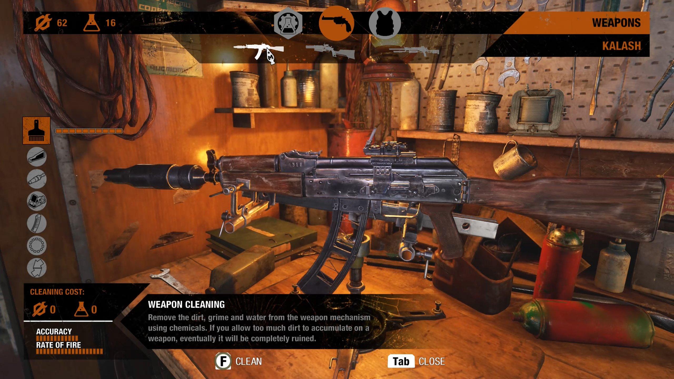 Metro Exodus weapon upgrade and item crafting