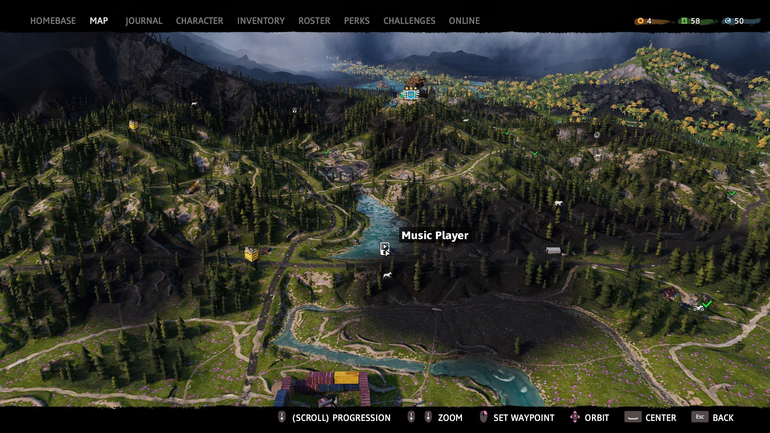 far cry new dawn music player 3 map