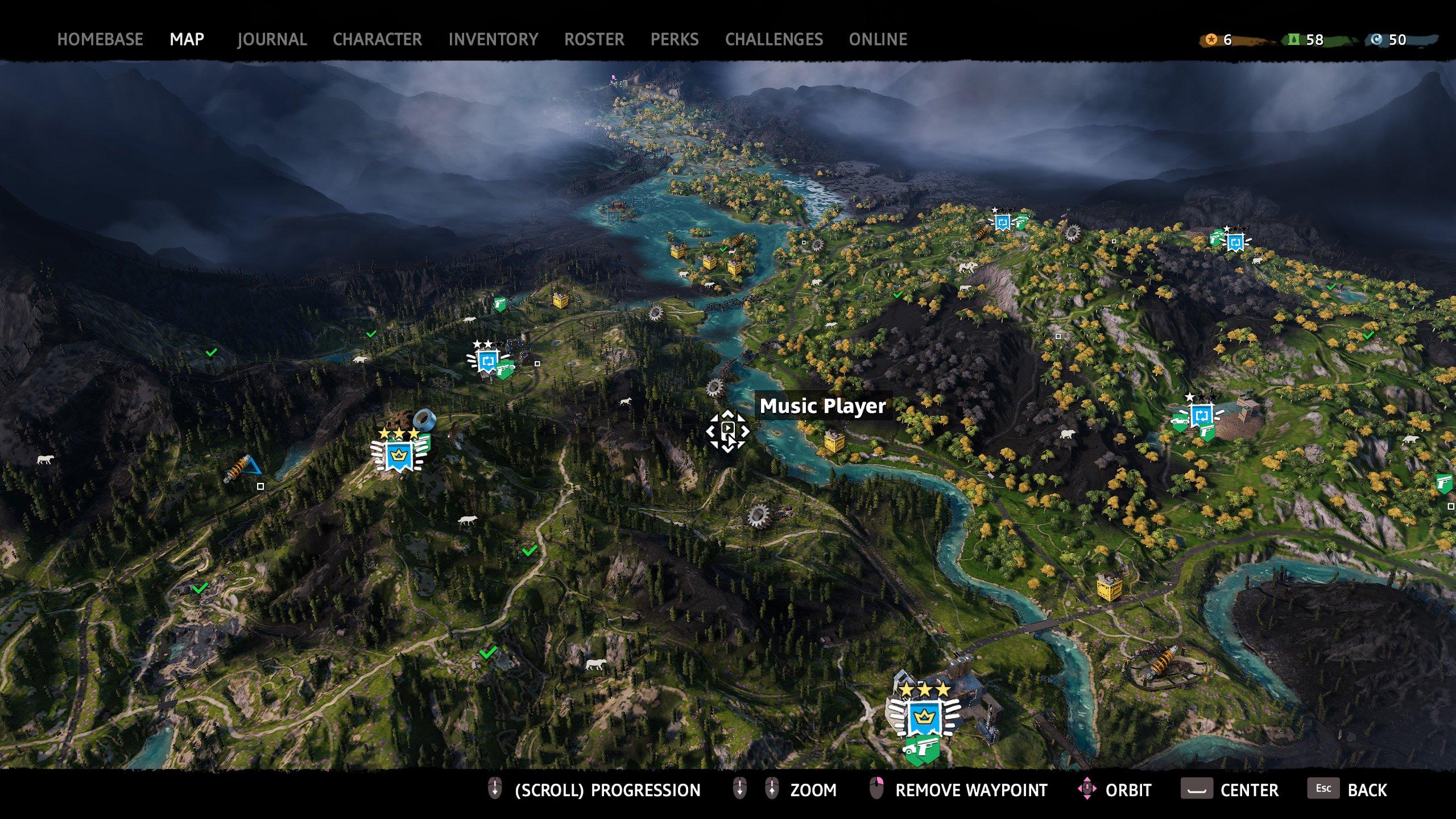 far cry new dawn music player map