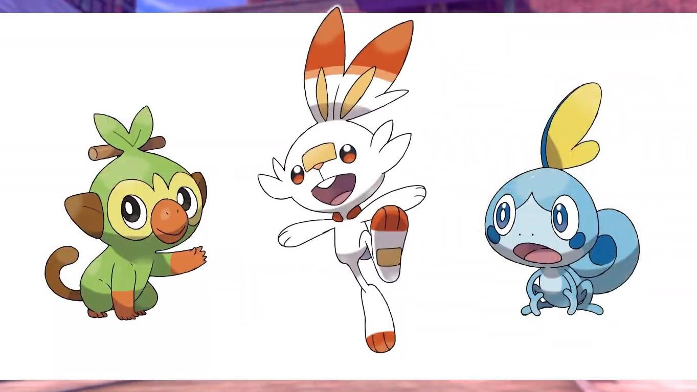 Pokemon Sword and Shield's new starters