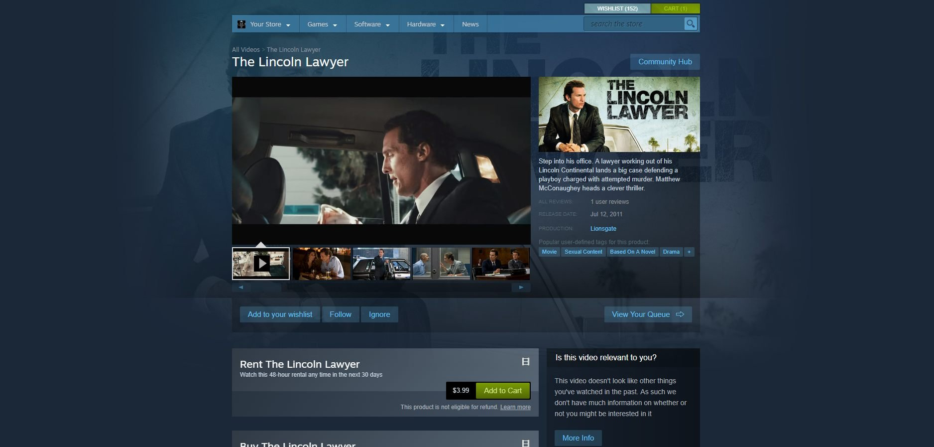 Steam removing non gaming video content from marketplace store storefront