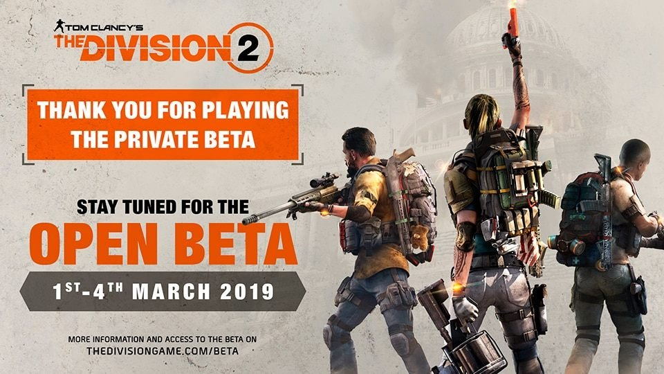 tom clancys the division 2 open beta dates