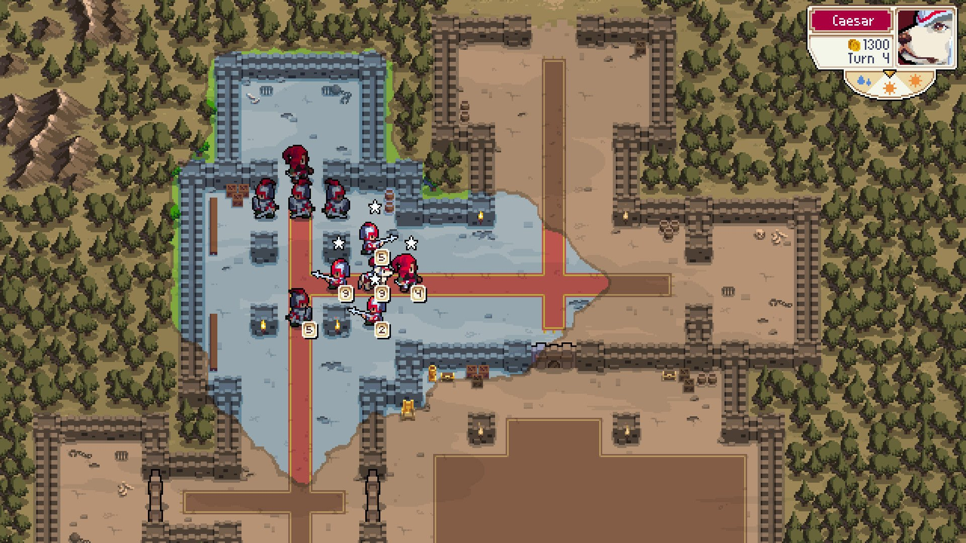 Wargroove fog of war covering map