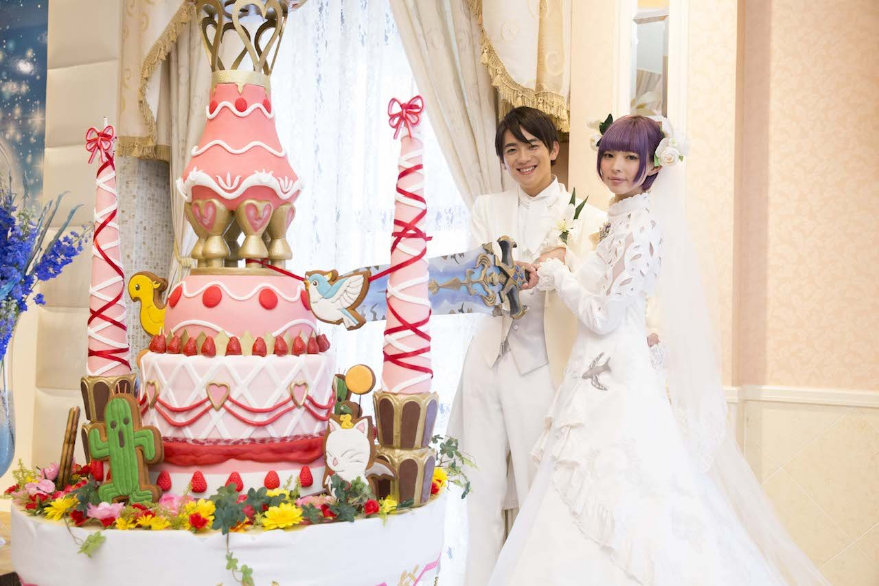 This Final Fantasy wedding looks adorable.