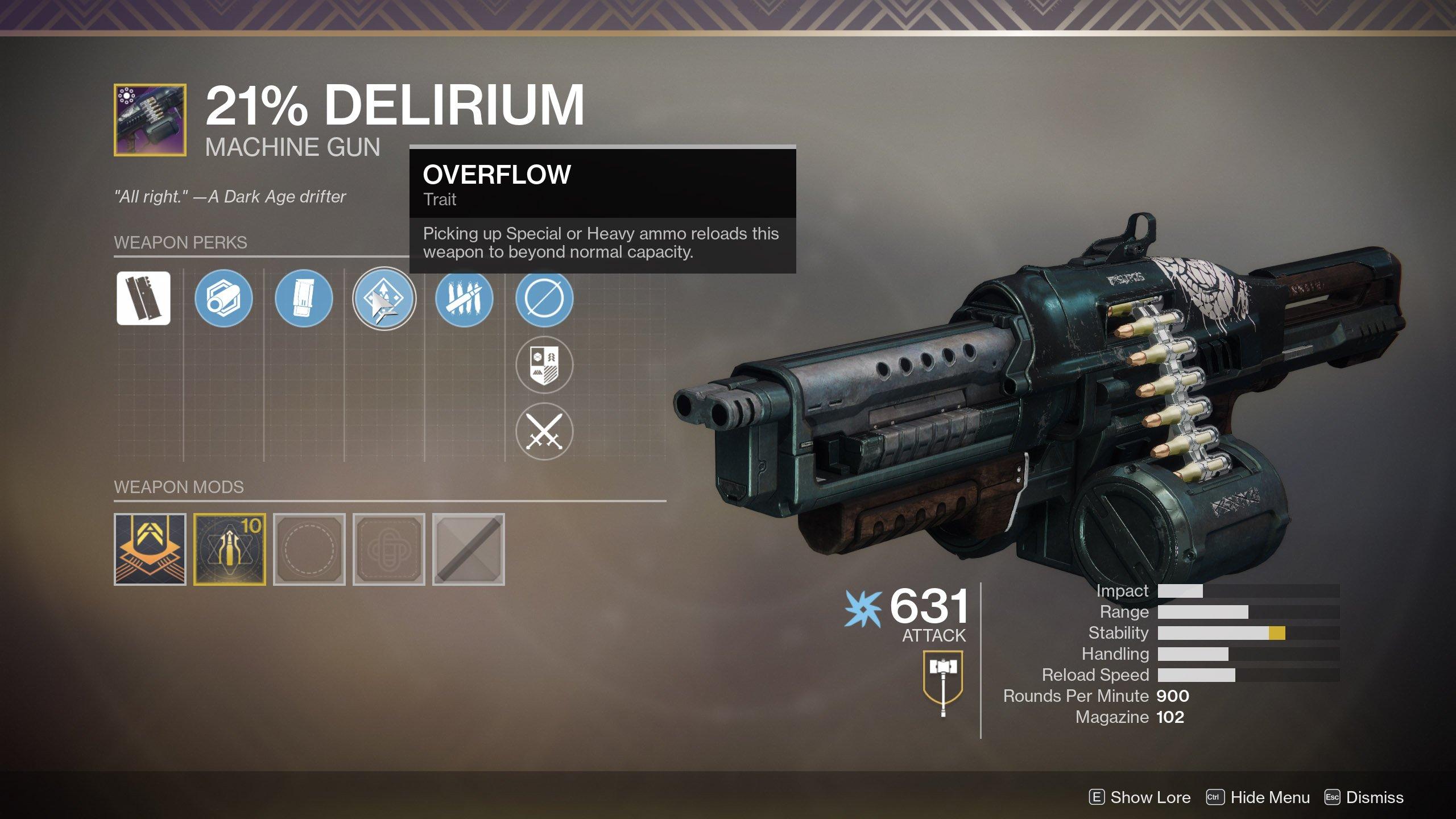 Destiny 2 21 percent delirium perks 01