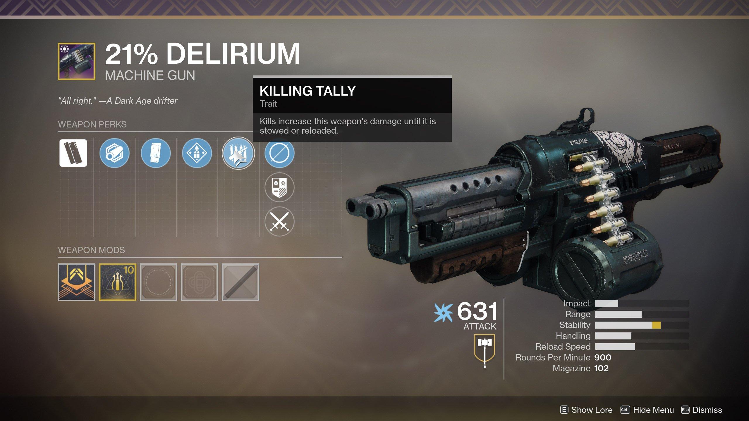Destiny 2 21 percent delirium perks 02