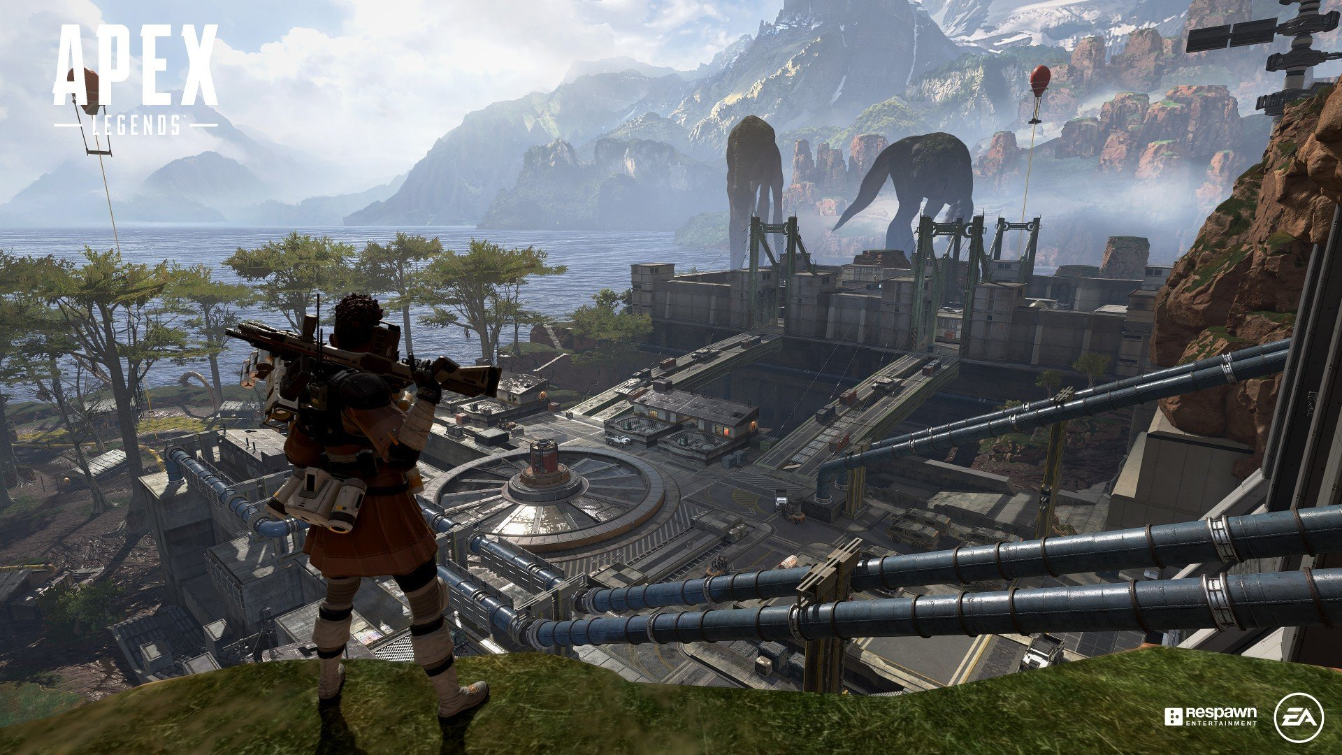 Apex Legends mobile - Bangalore overlooking the map