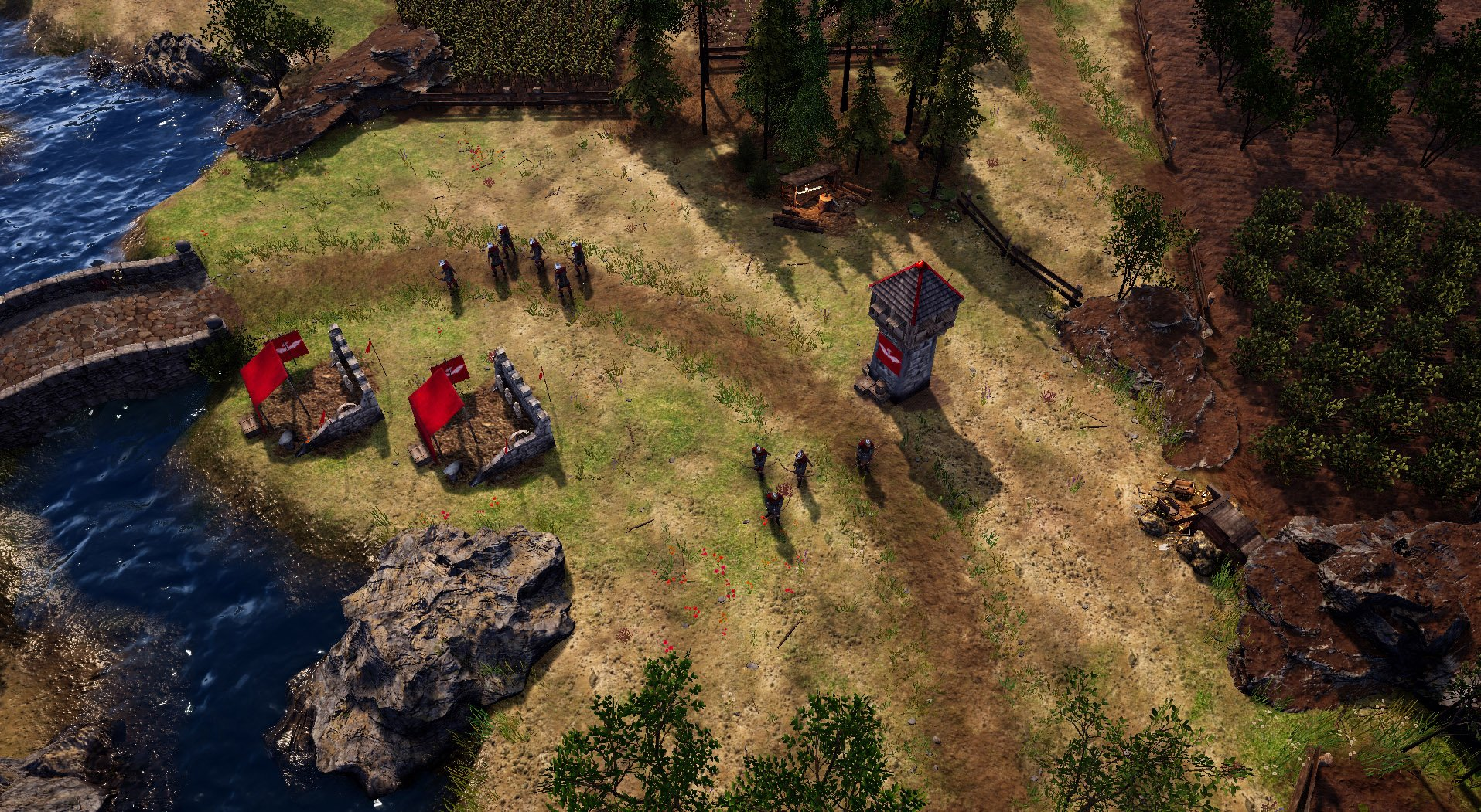 small camp set up in Bannermen