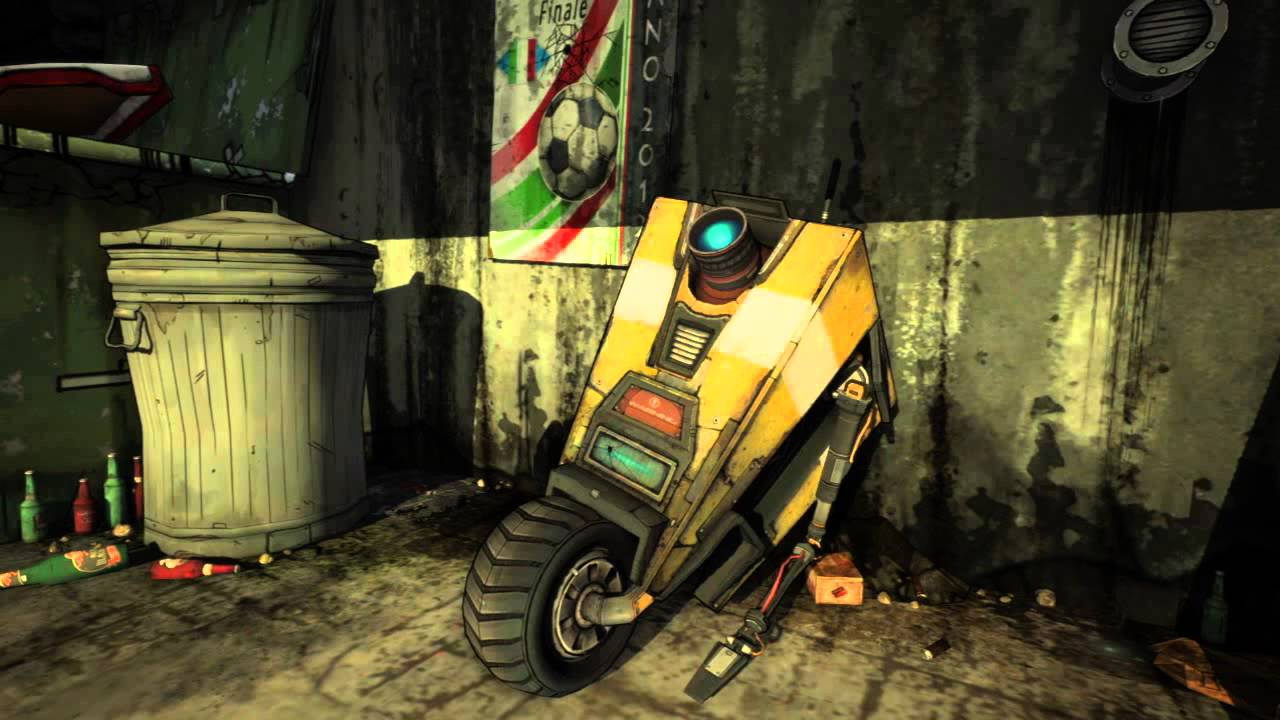 Borderlands 2 Claptrap relaxing