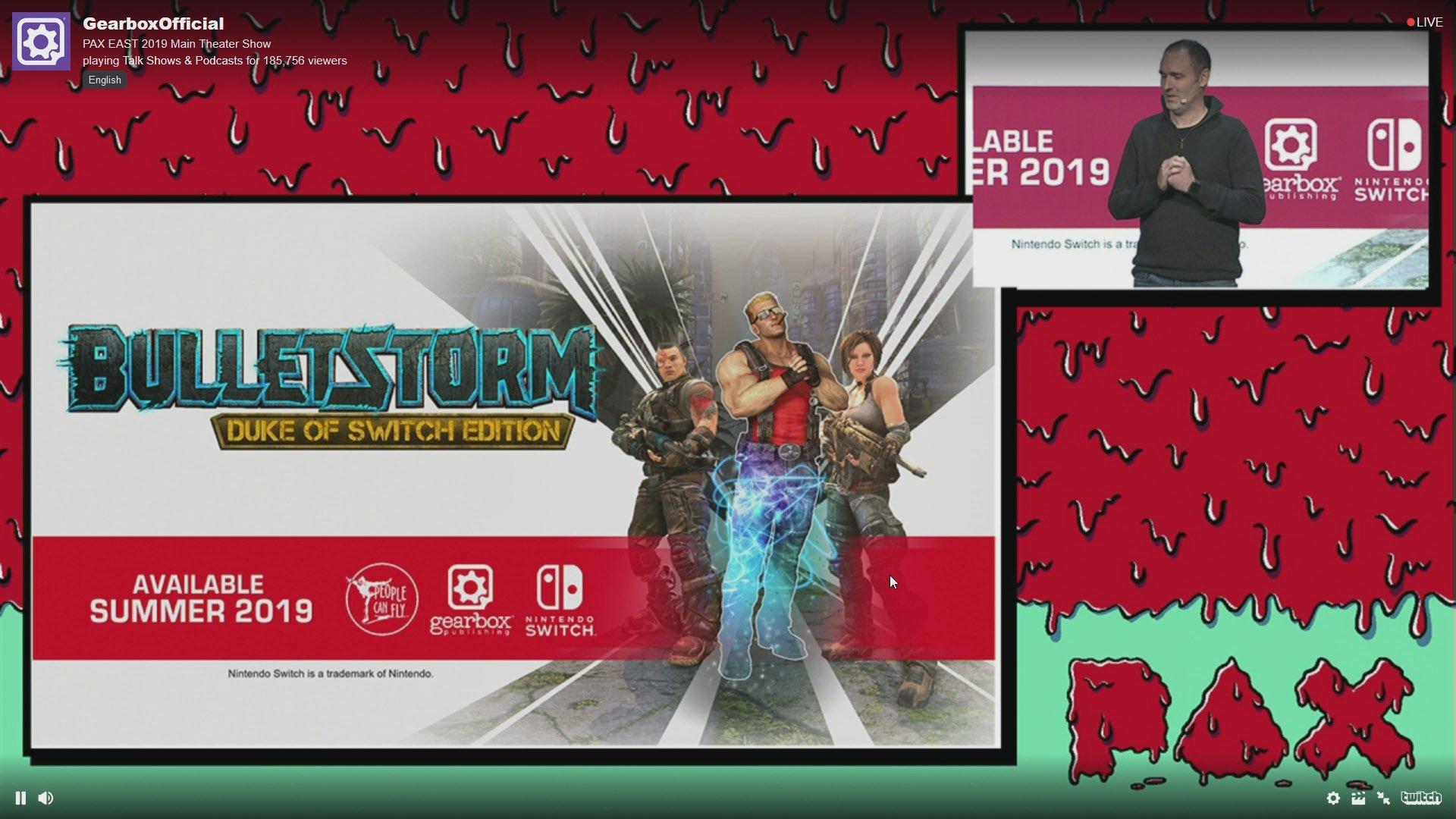 Bulletstorm Duke of Switch Edition revealed