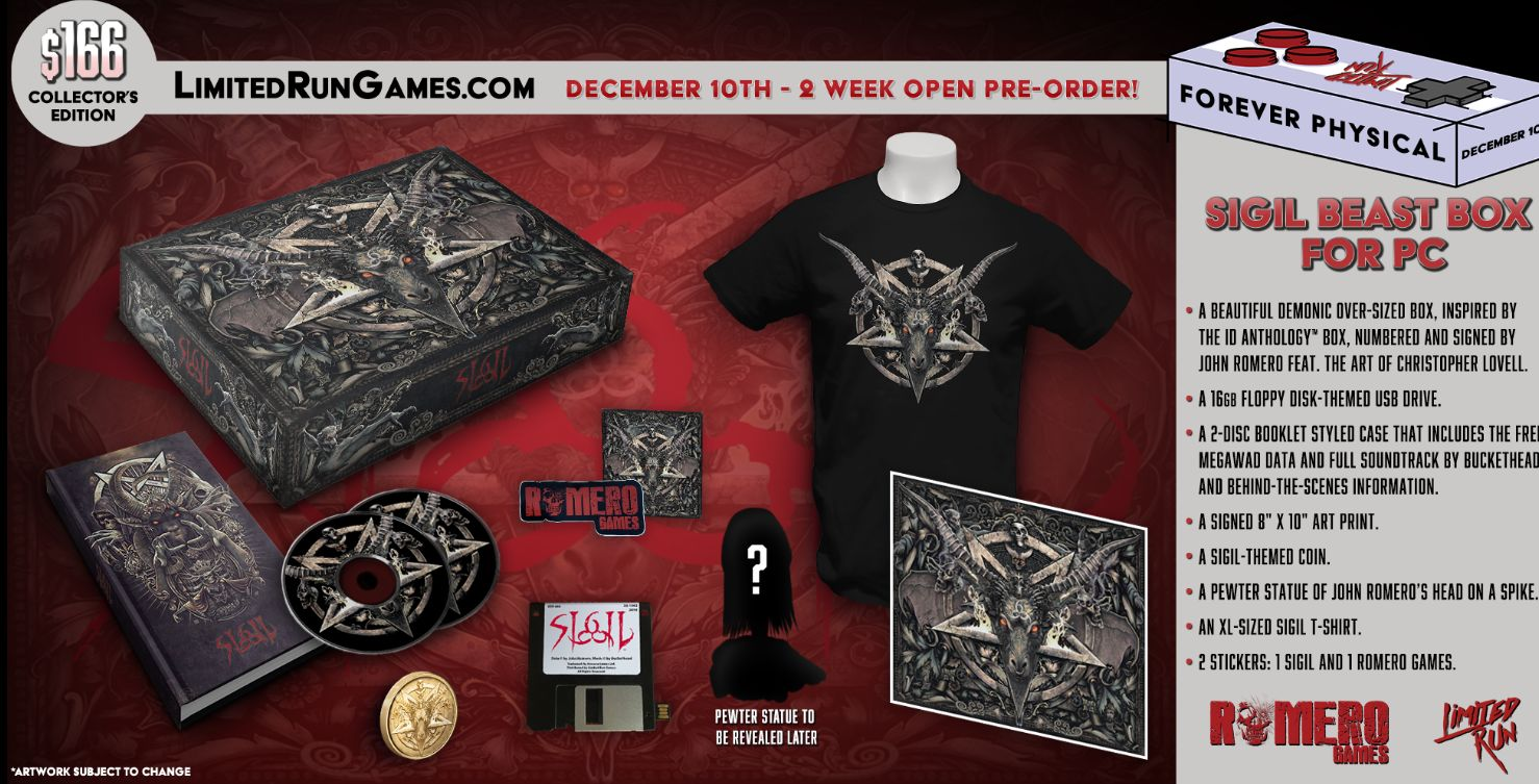 Sigil's limited-edition merchandise.