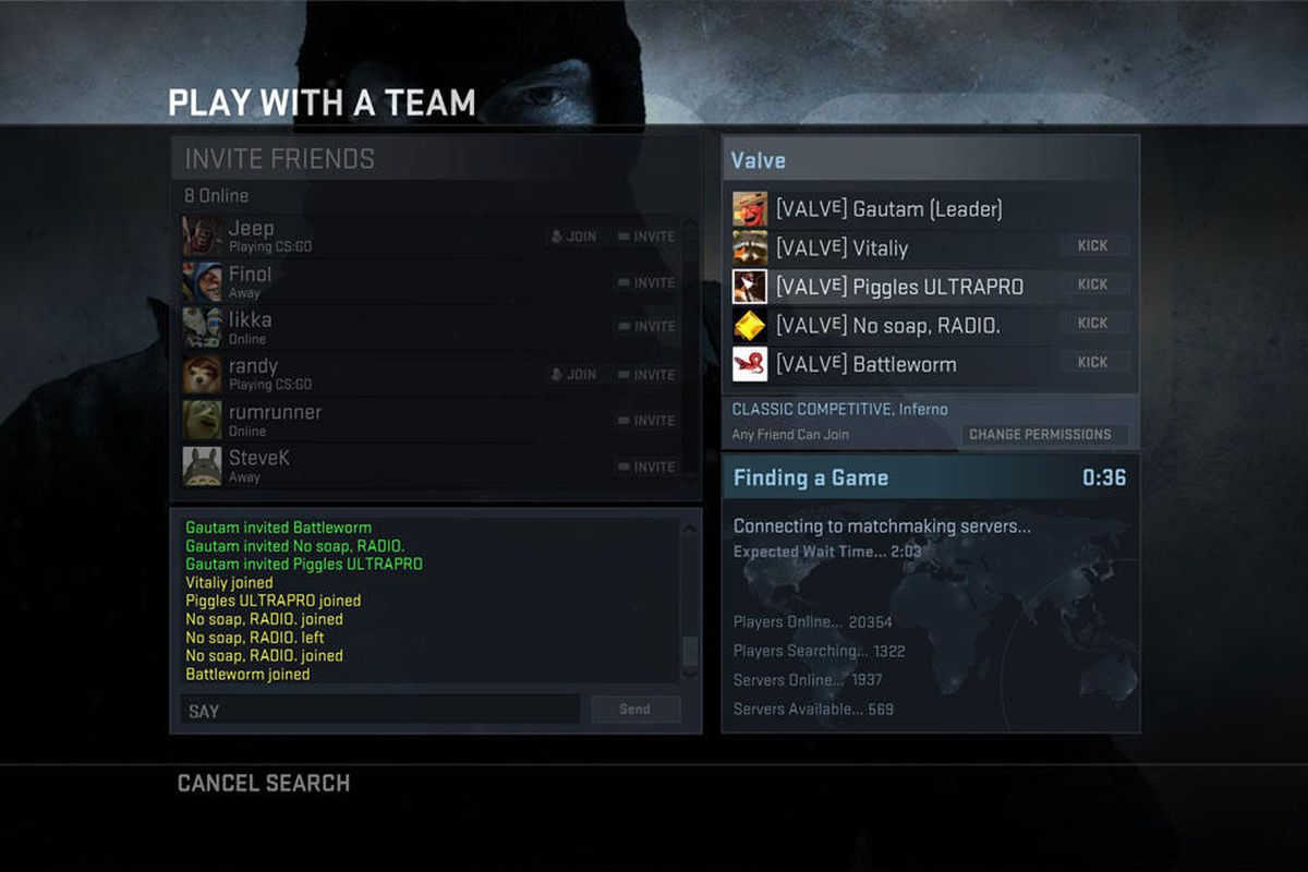 A counter strike matchmaking screenshot