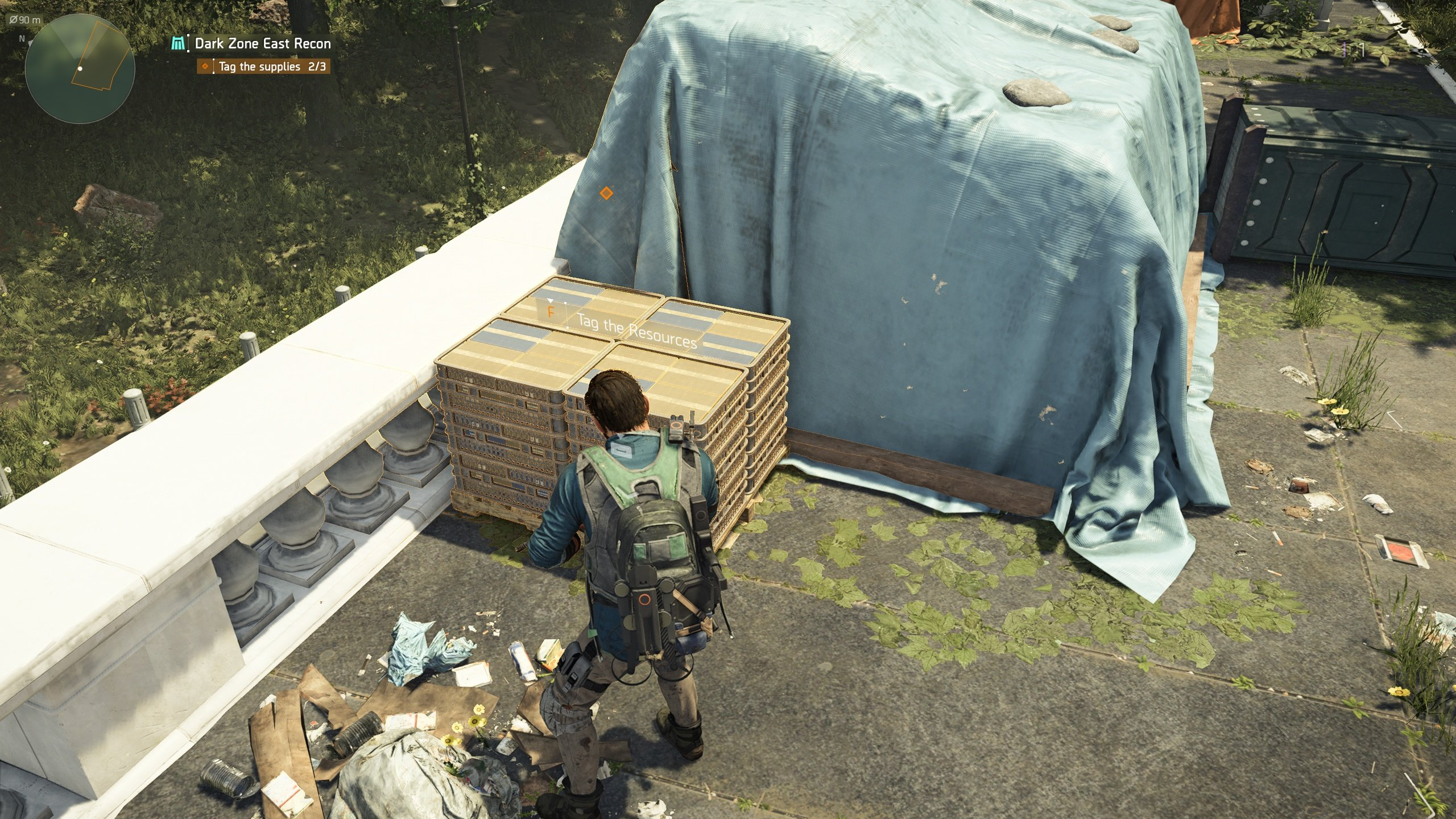 how to unlock the dark zone in The Division 2 - tag supplies in the Dark Zone