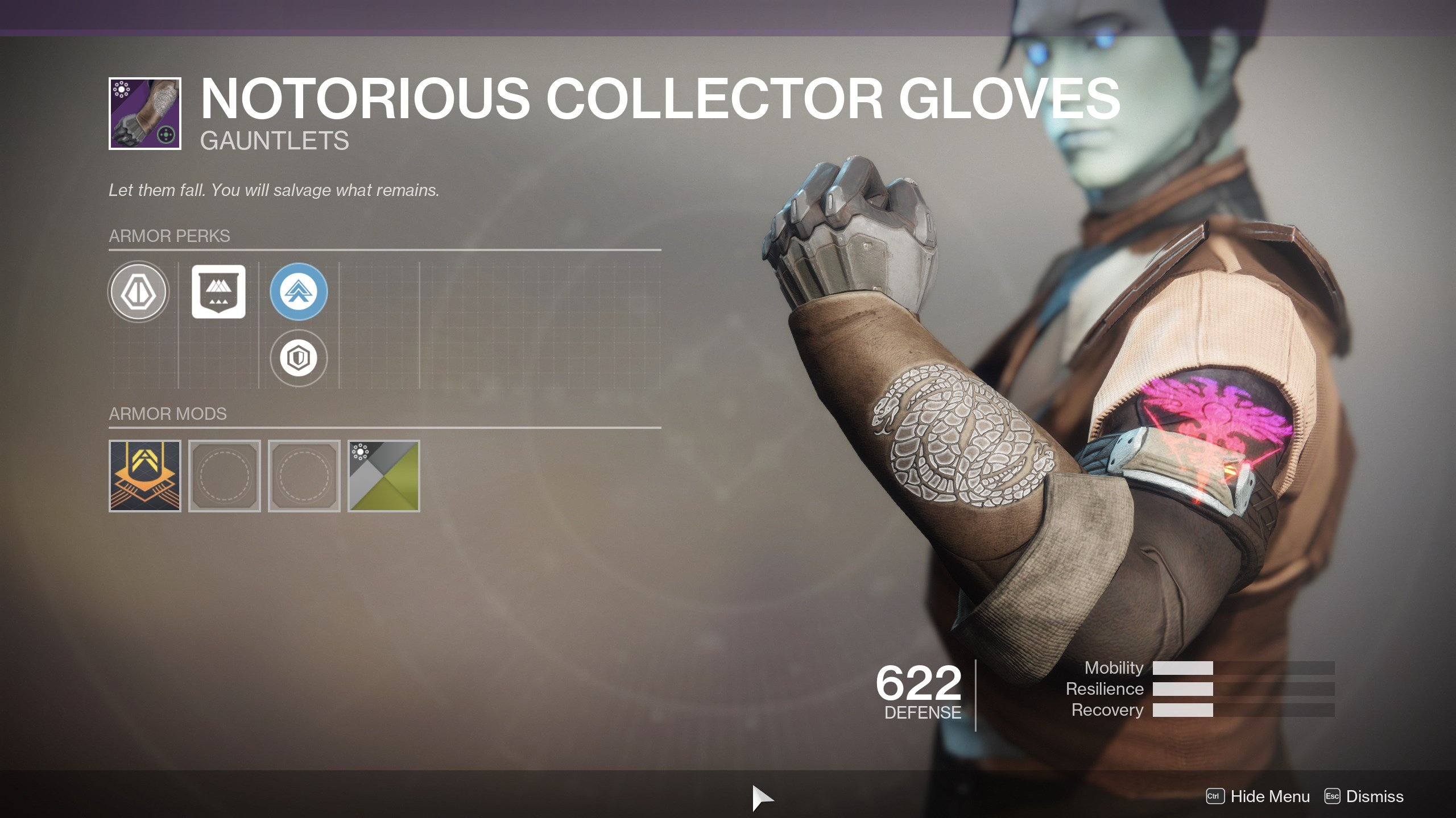 Destiny 2 Notorious Collector Gloves