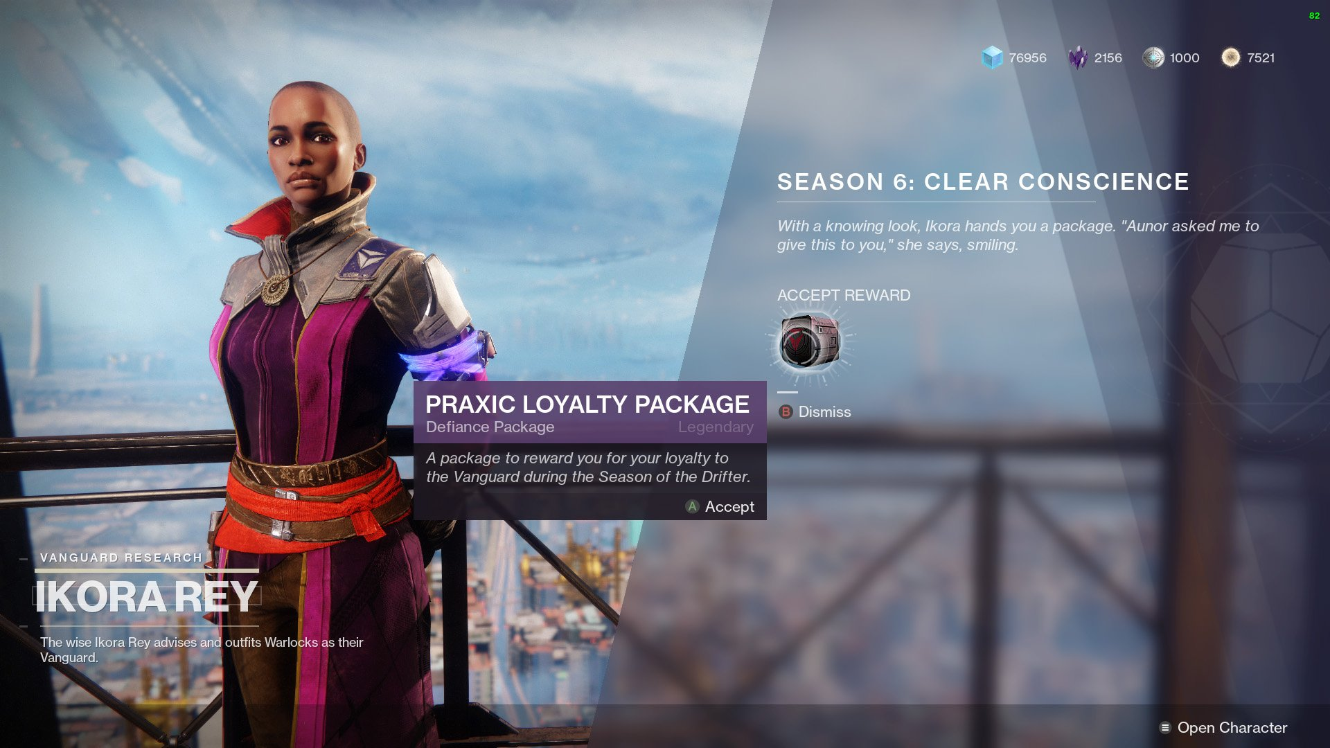 Destiny 2 Allegiance Vanguard Praxic Loyalty Package