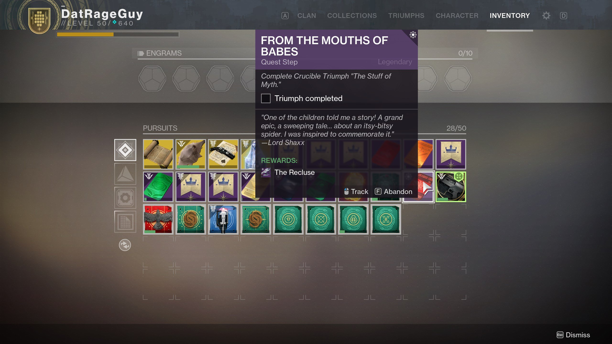 Destiny 2 From the Mouths of Babes quest