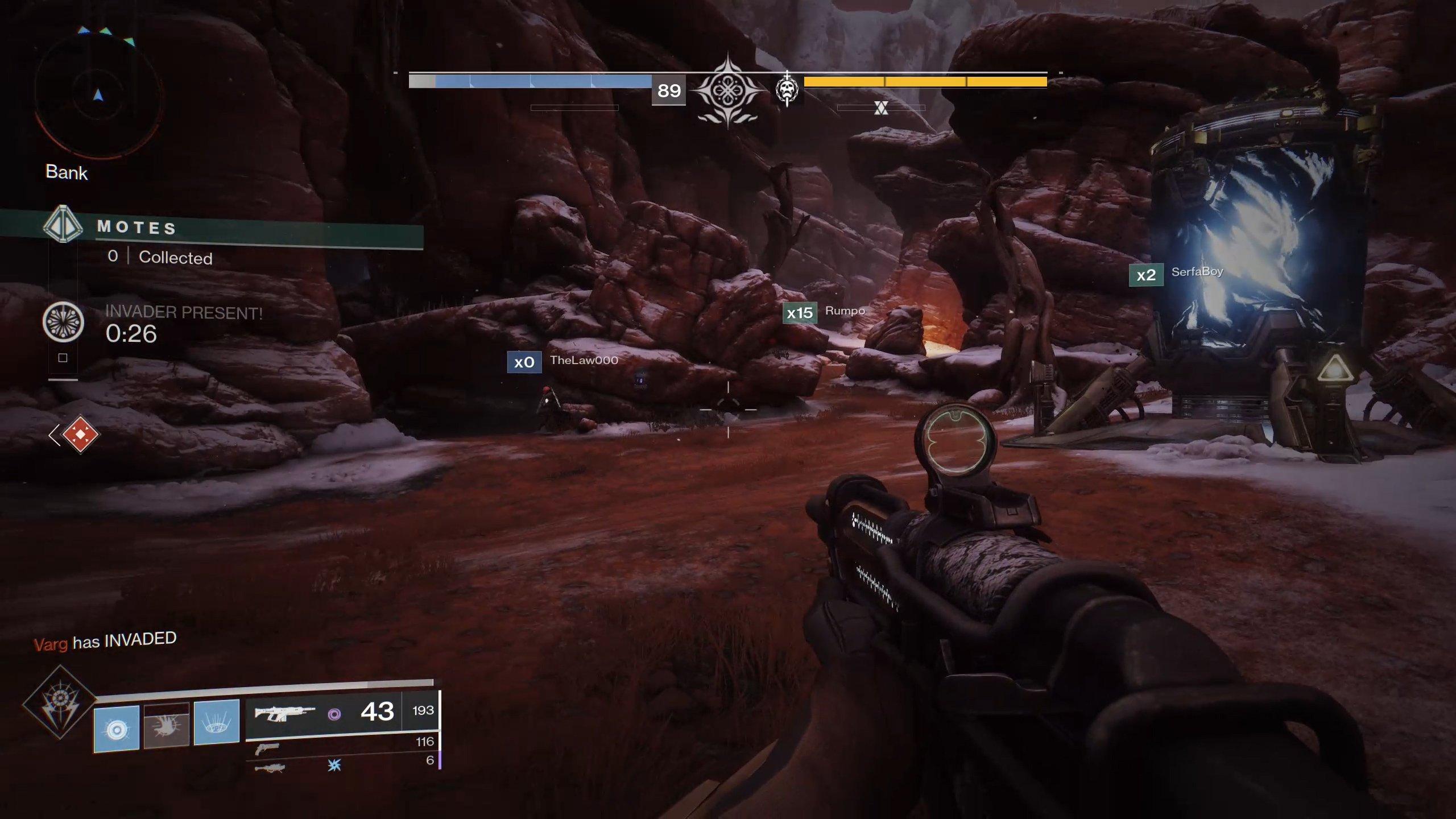 Destiny 2 Gambit Prime invader active