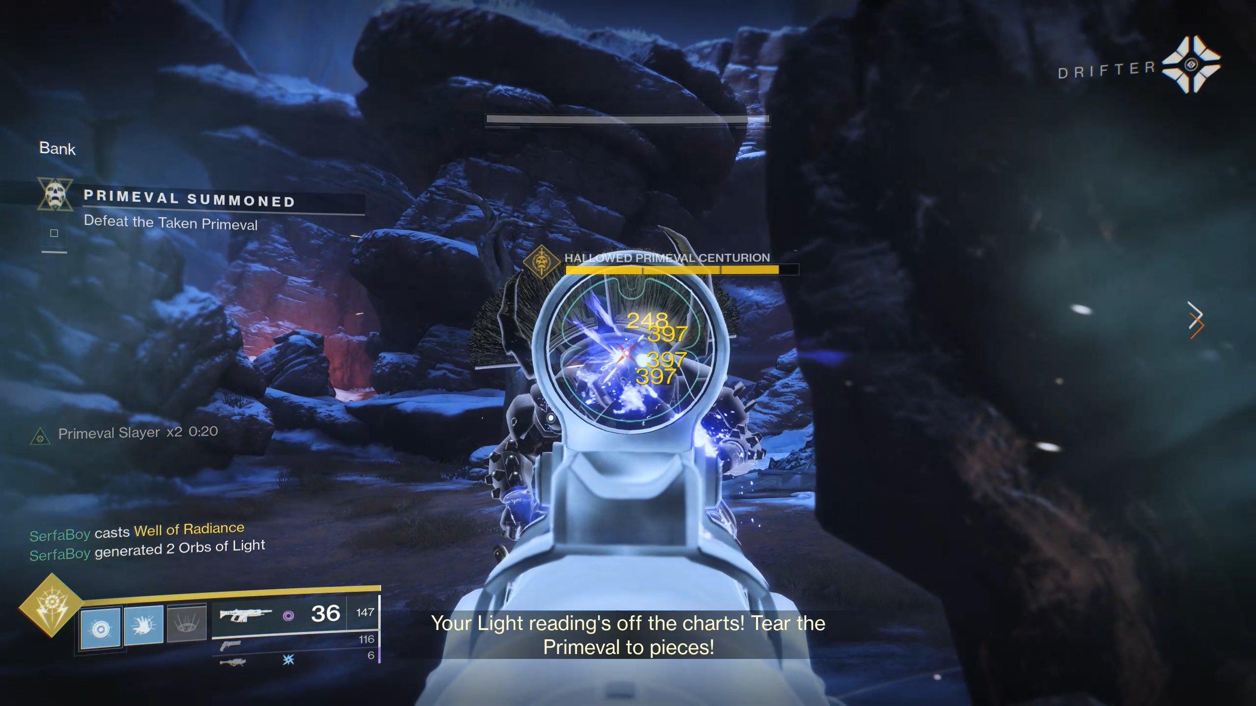 Destiny 2 Primeval damage phase stacks