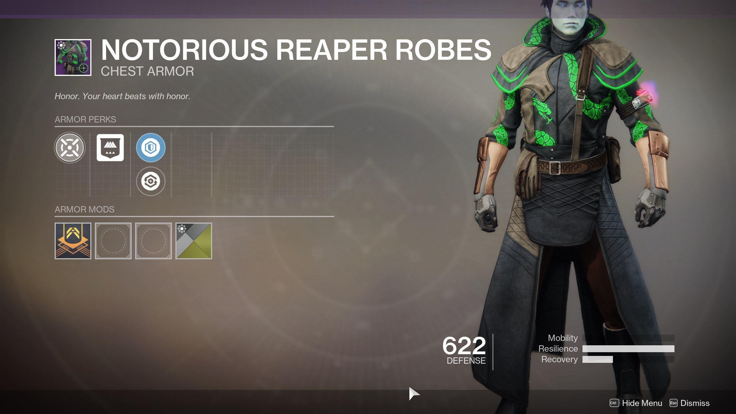 Destiny 2 Notorious Reaper Robes