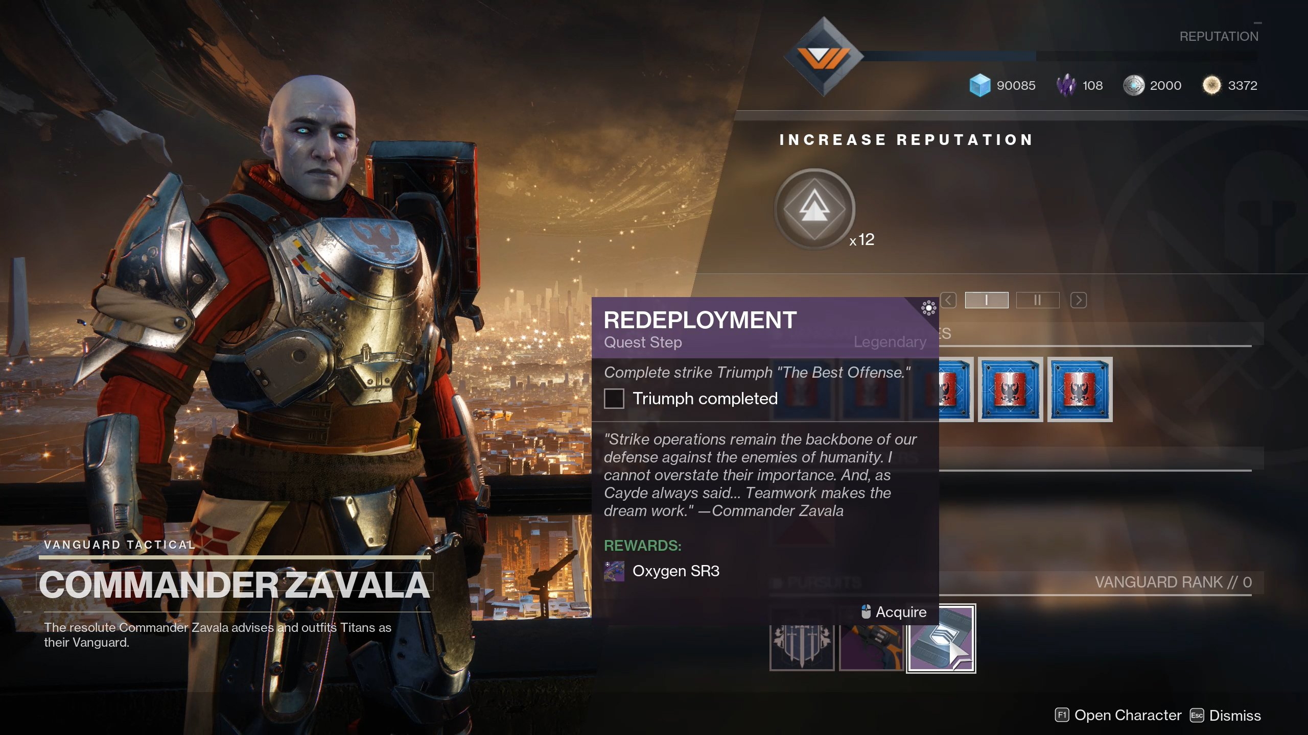 Destiny 2 Redeployment quest step