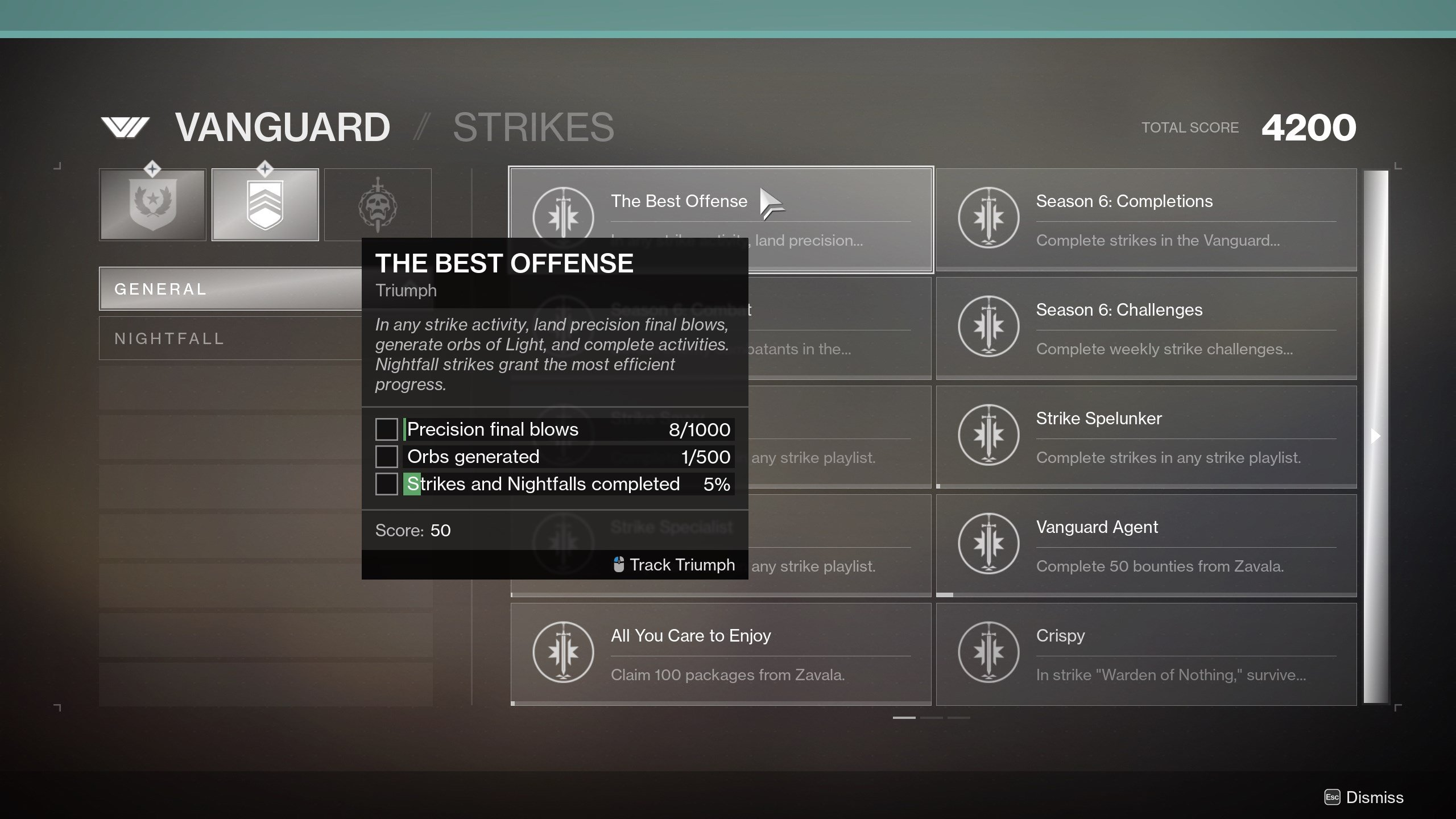 Destiny 2 The Best Offense Triumph tasks