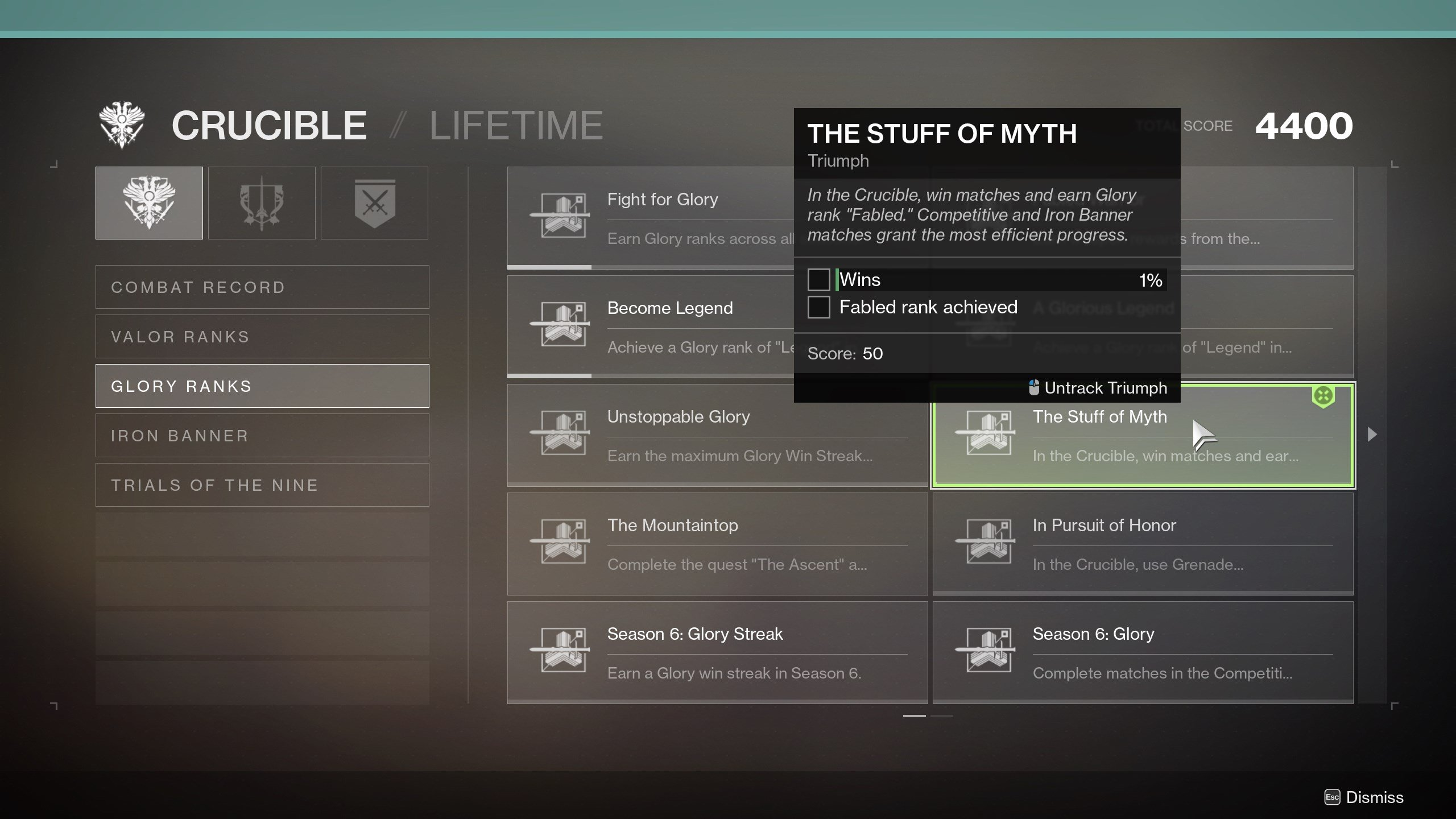 Destiny 2 Stuff of Myth Triumph requirements