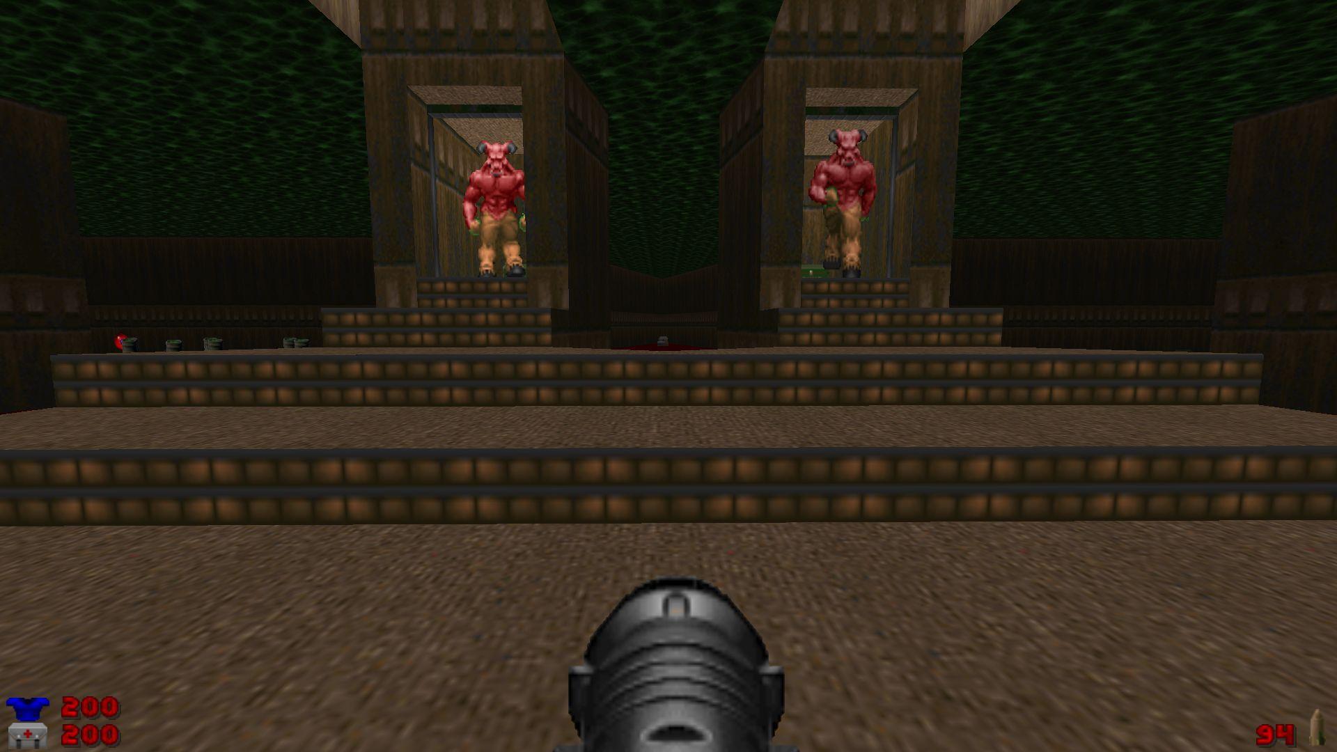 Doom E1M8: Barons of Hell, aka the Bruiser Brothers.