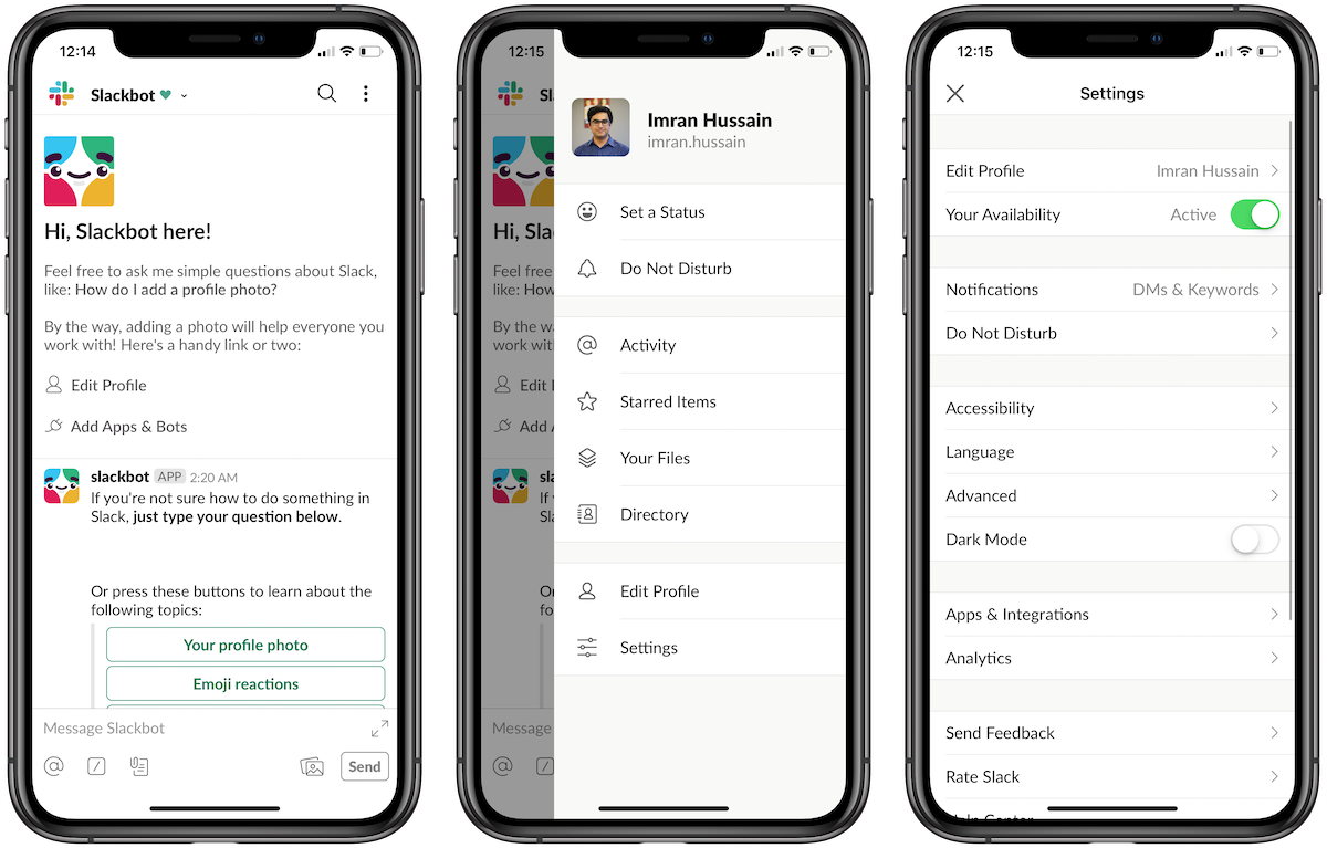 Dark mode arrives in Slack's iOS and Android apps