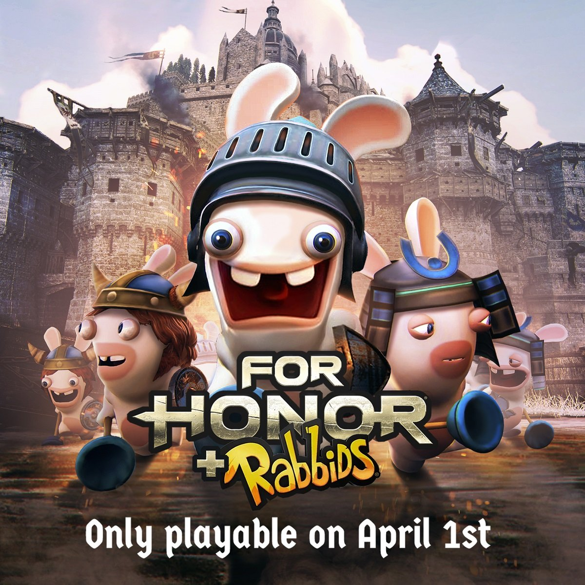 Those goofy Rabbids have invaded For Honor in this 24 hour long April Fools' Day special event.