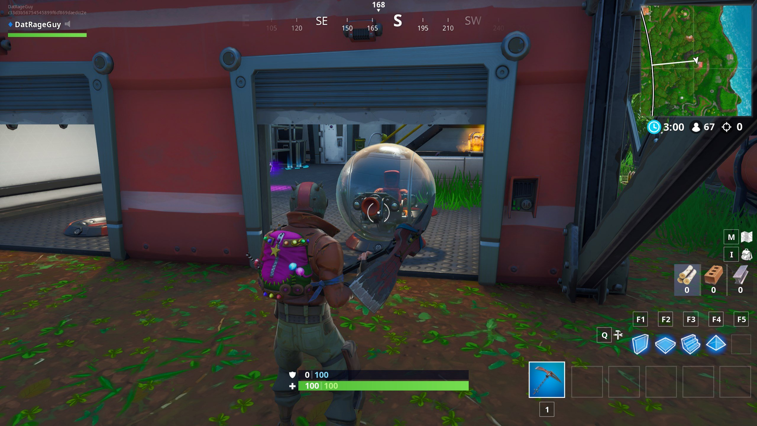 Use a Volcano Vent, a zipline, and a vehicle in Fortnite - finding a Baller