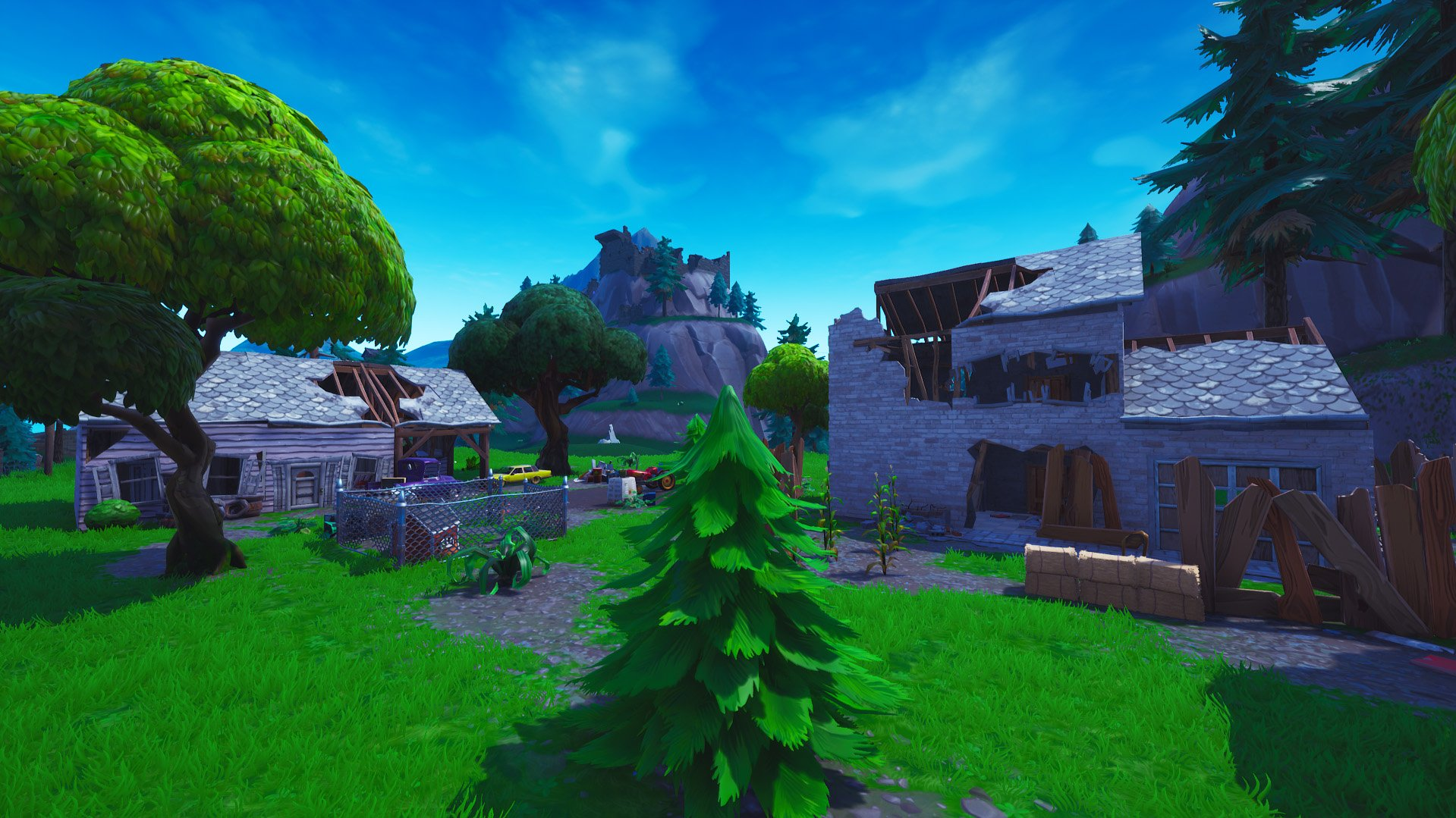 Fortnite houses redesigned near haunted hills