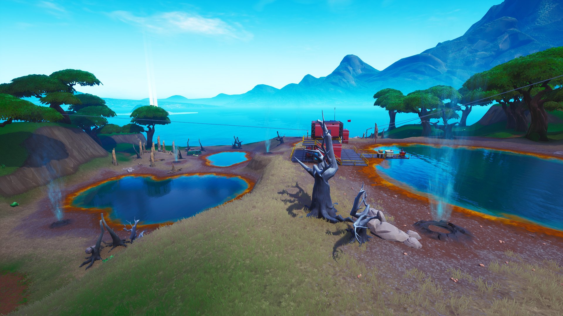 Fortnite hot springs near lazy lagoon