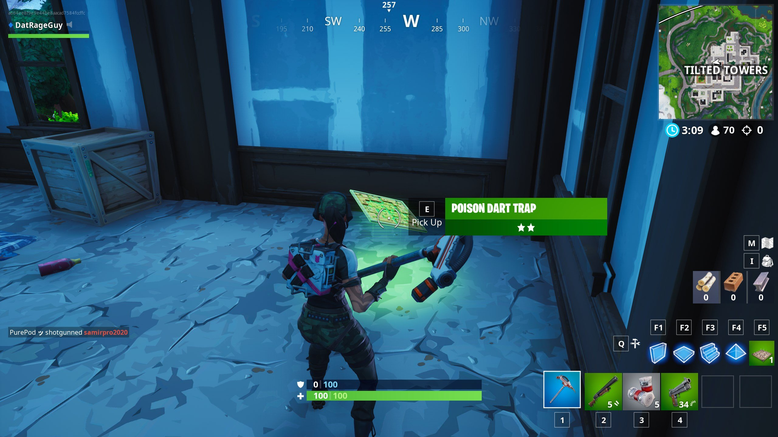 Fortnite Poison Dart Trap - where to find a Poison Dart Trap