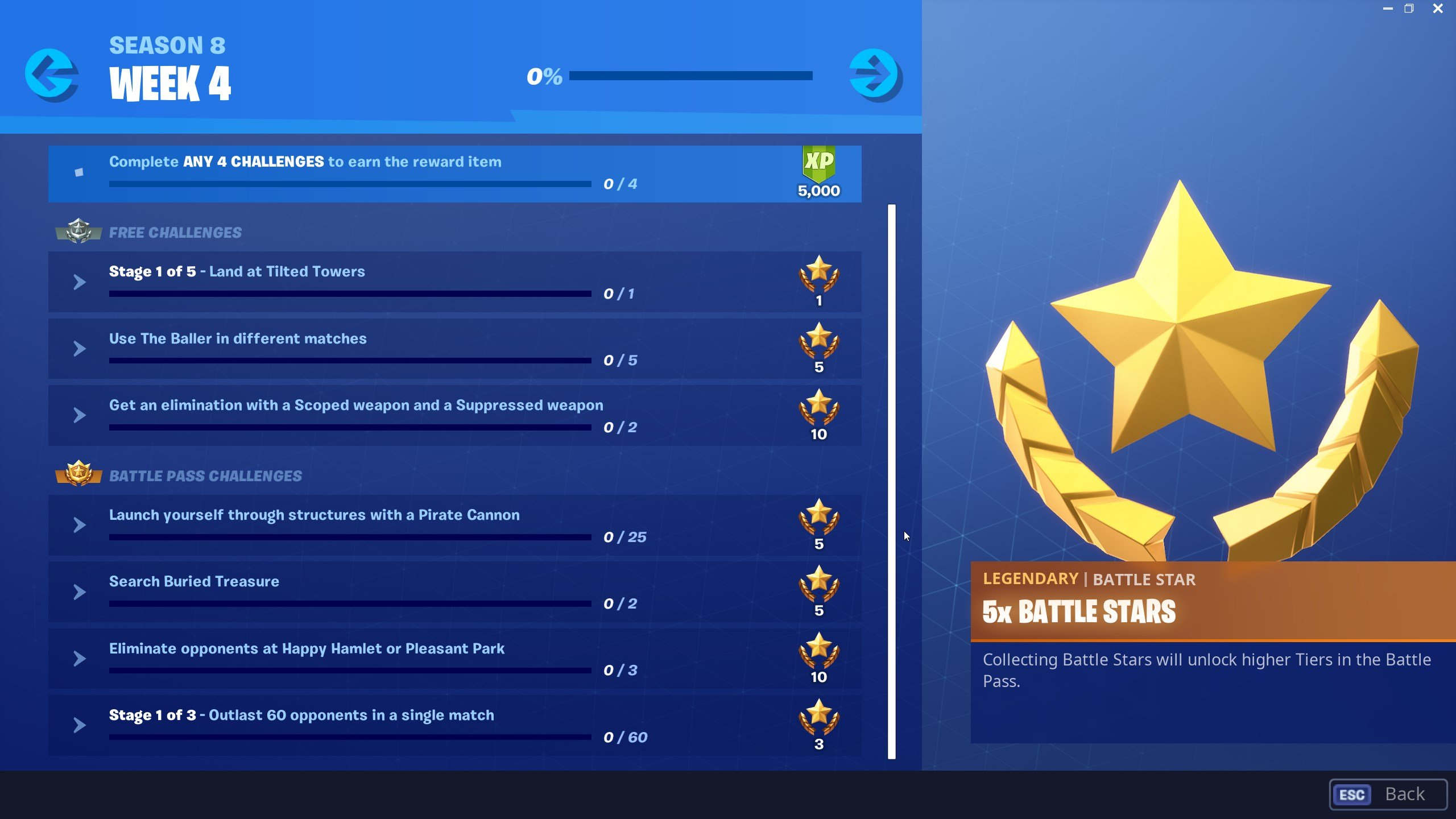 search for buried treasure - fortnite season 8 challenges
