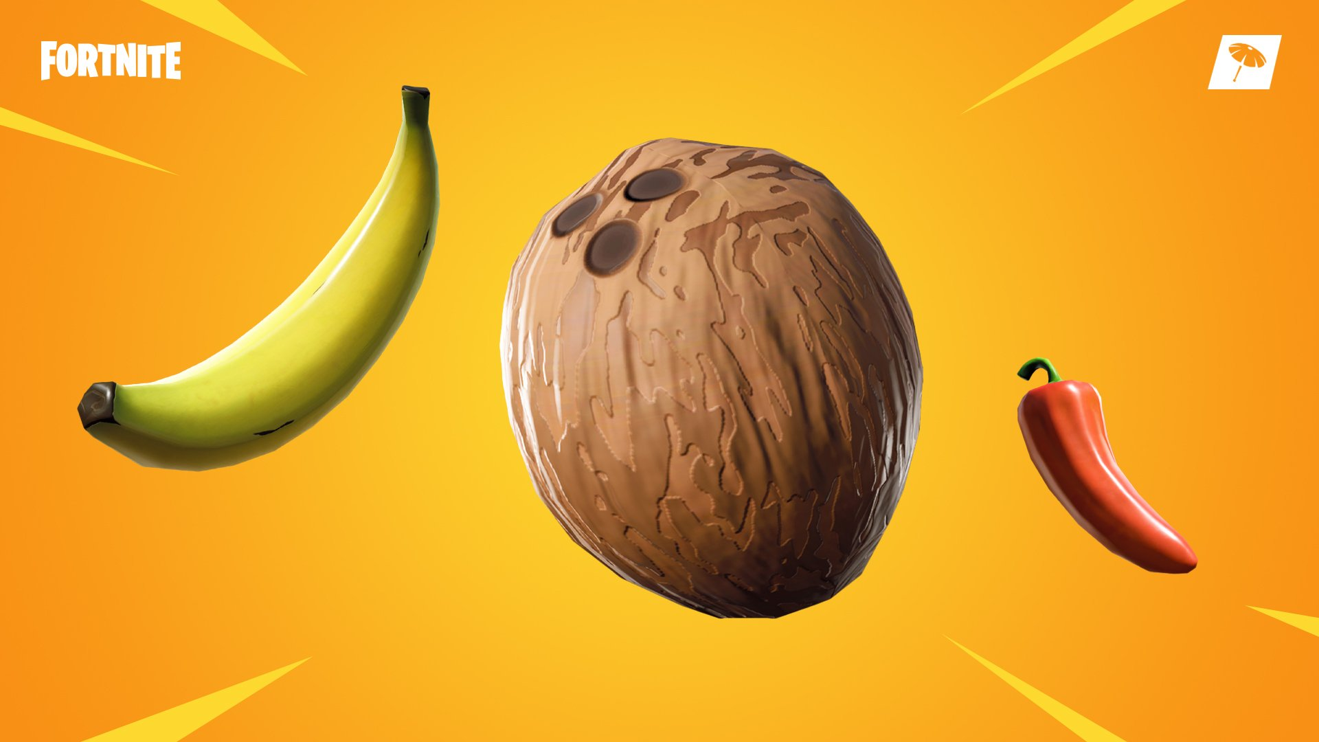 Get more variety in your Fortnite diet with bananas, coconuts, and chilis!