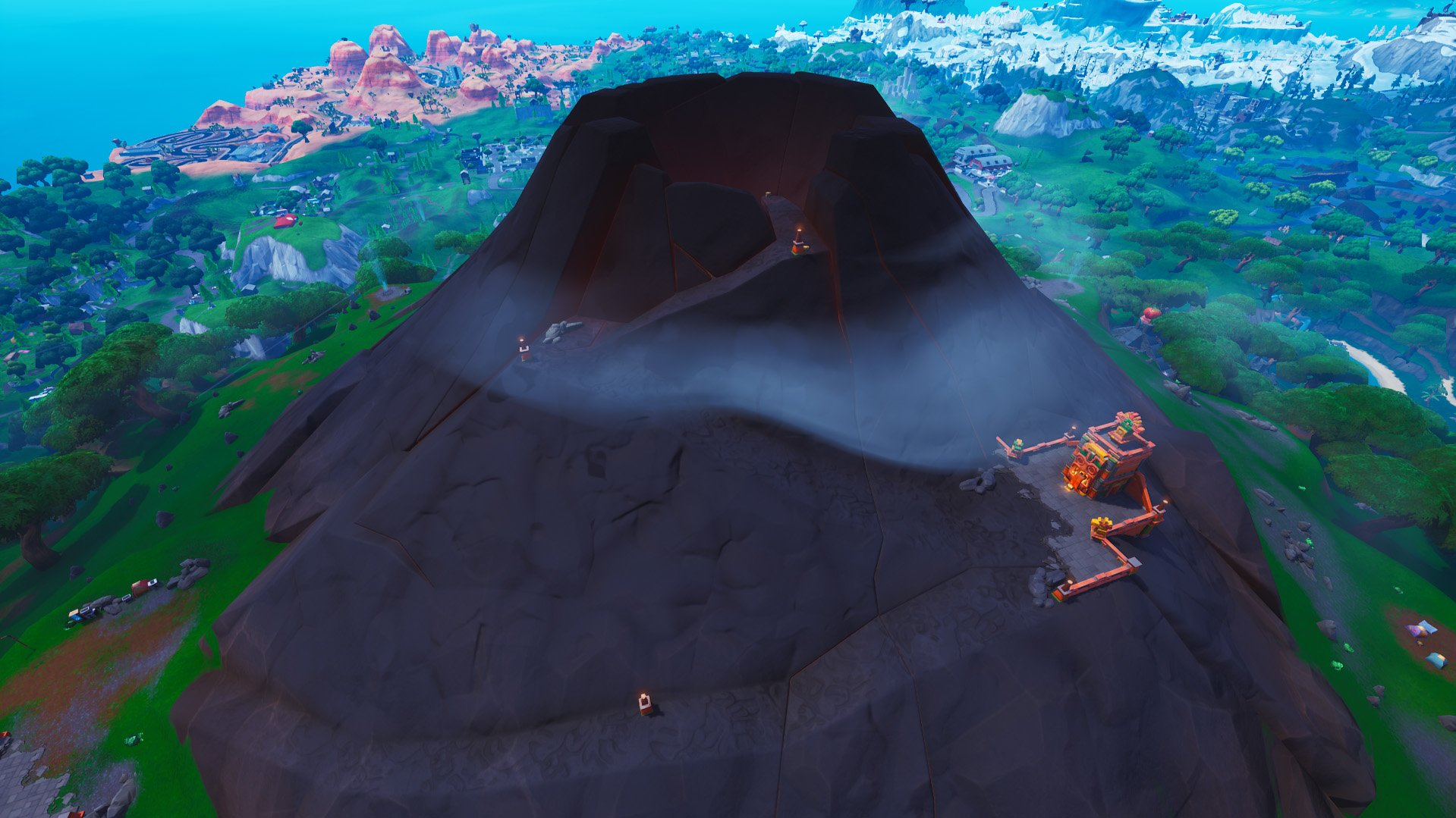 Fortnite volcano gets added to island