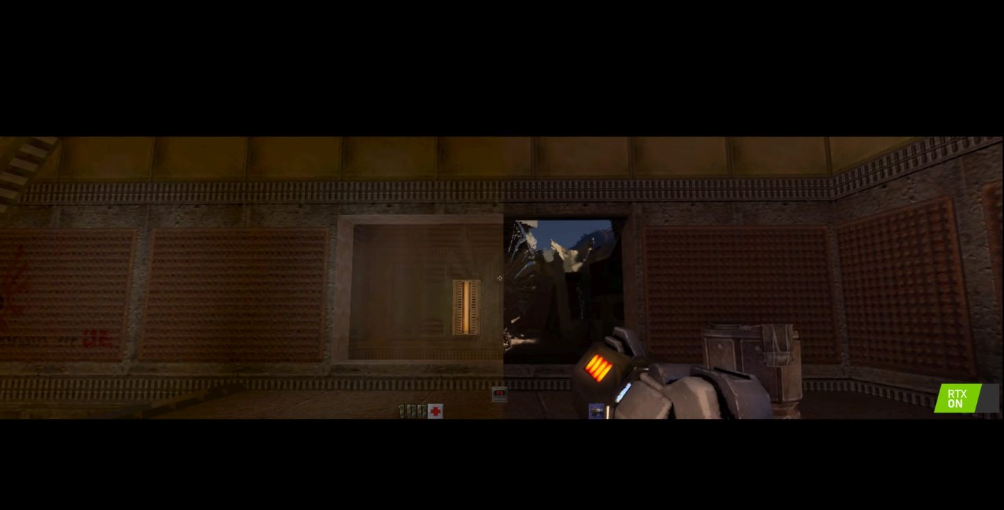 Quake 2 RTX demo NVIDIA screenshot GDC 2019