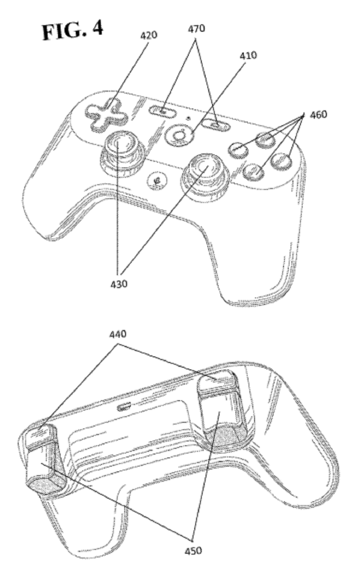 The image filed with the U.S. Patent and Trademark Office confirms the controller will feature two shoulder buttons.