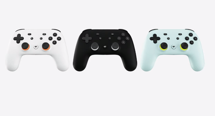 The Google Stadia controller comes in multiple color choices.