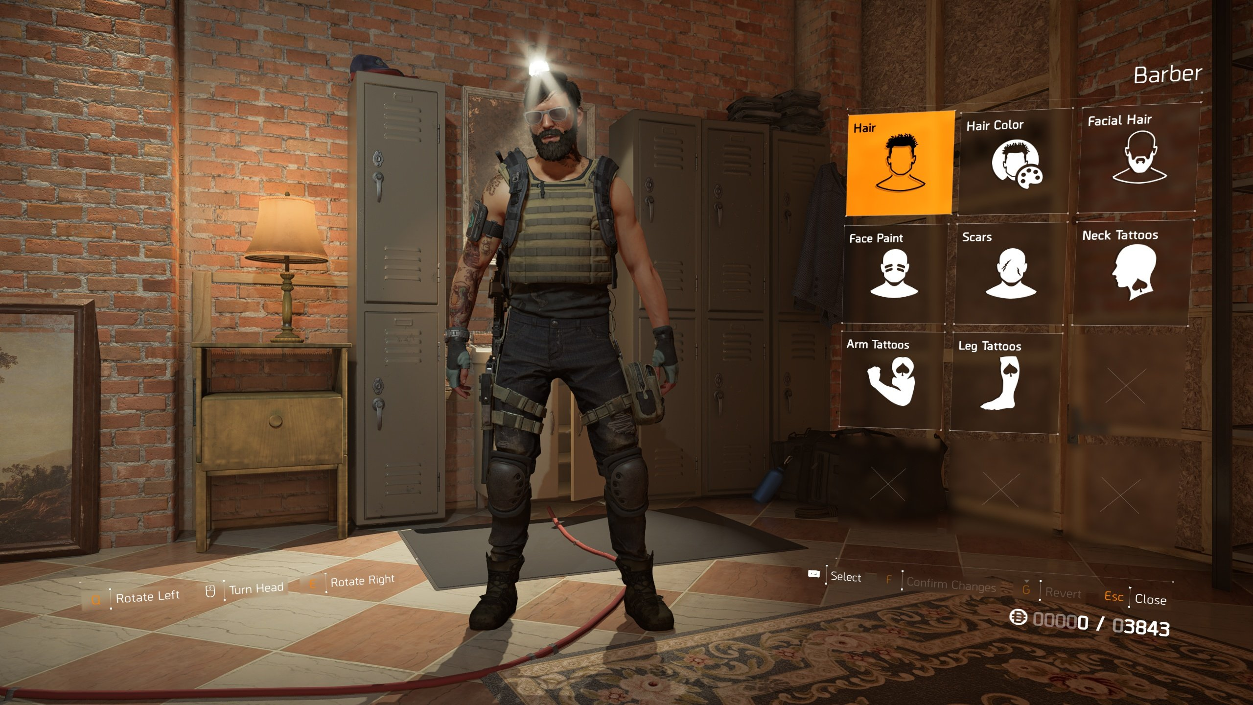 how to change appearance in The Division 2 - barber options
